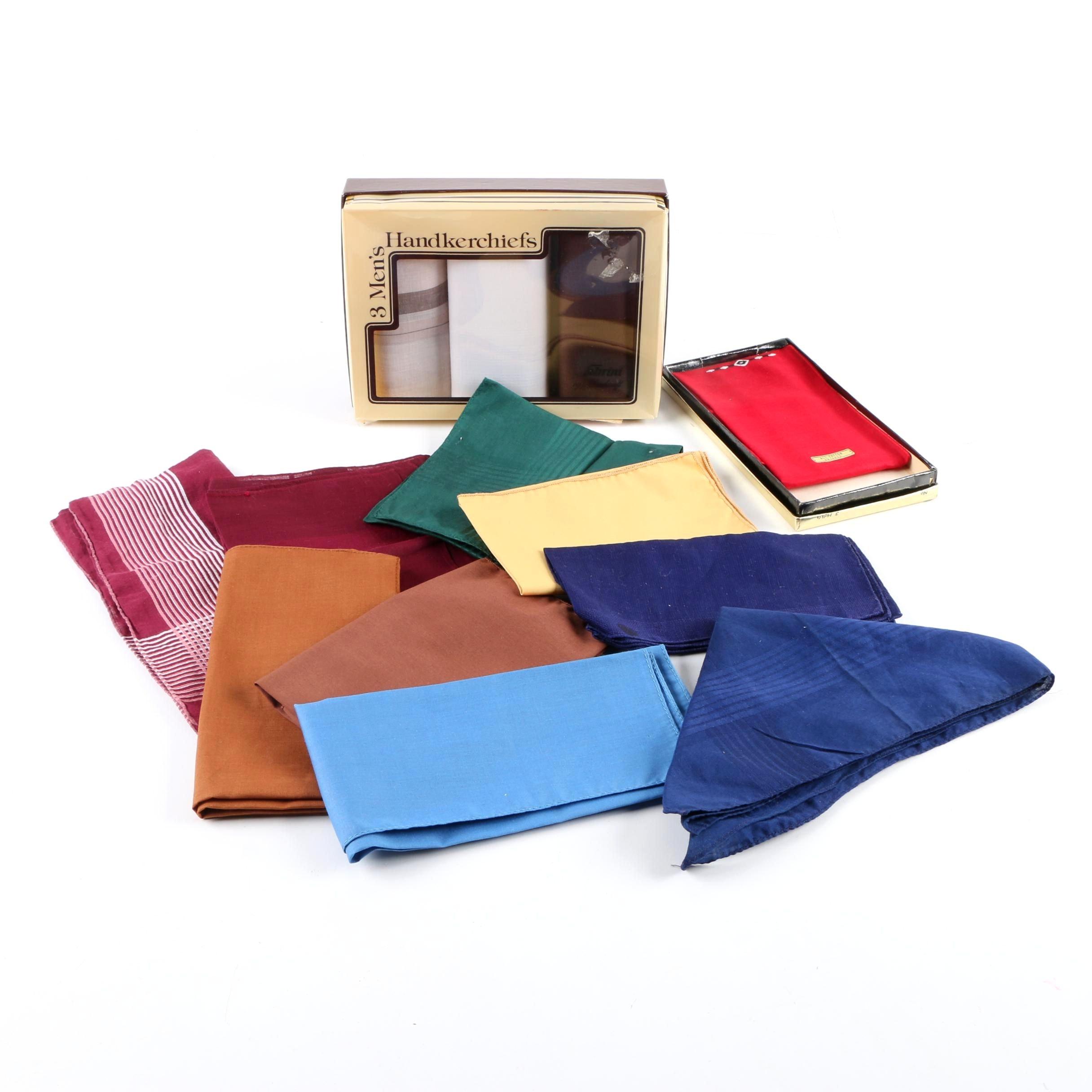 Men's Vintage Handkerchiefs Including Fabrini