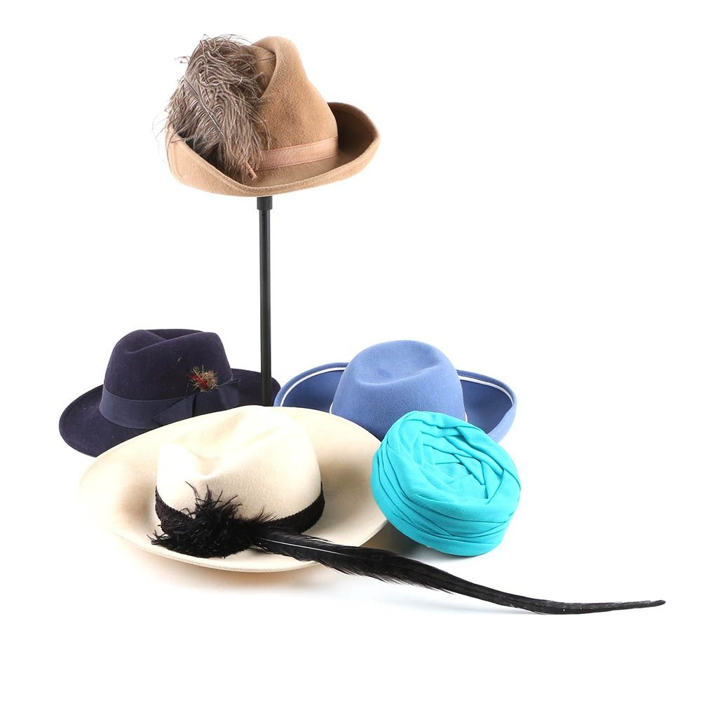 Vintage Hats Including Mr. Charles, Sandra New York, Neiman Marcus and Betmar
