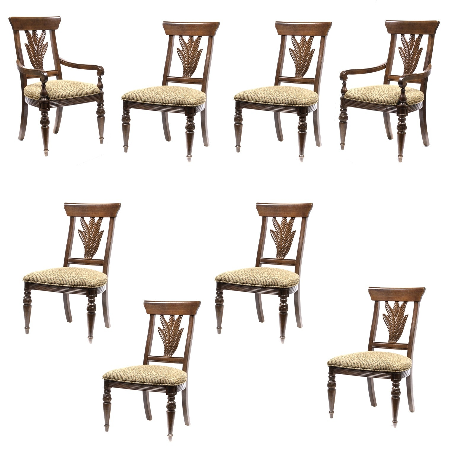 "Thomasville ""Ernest Hemingway"" Collection Dining Chairs"