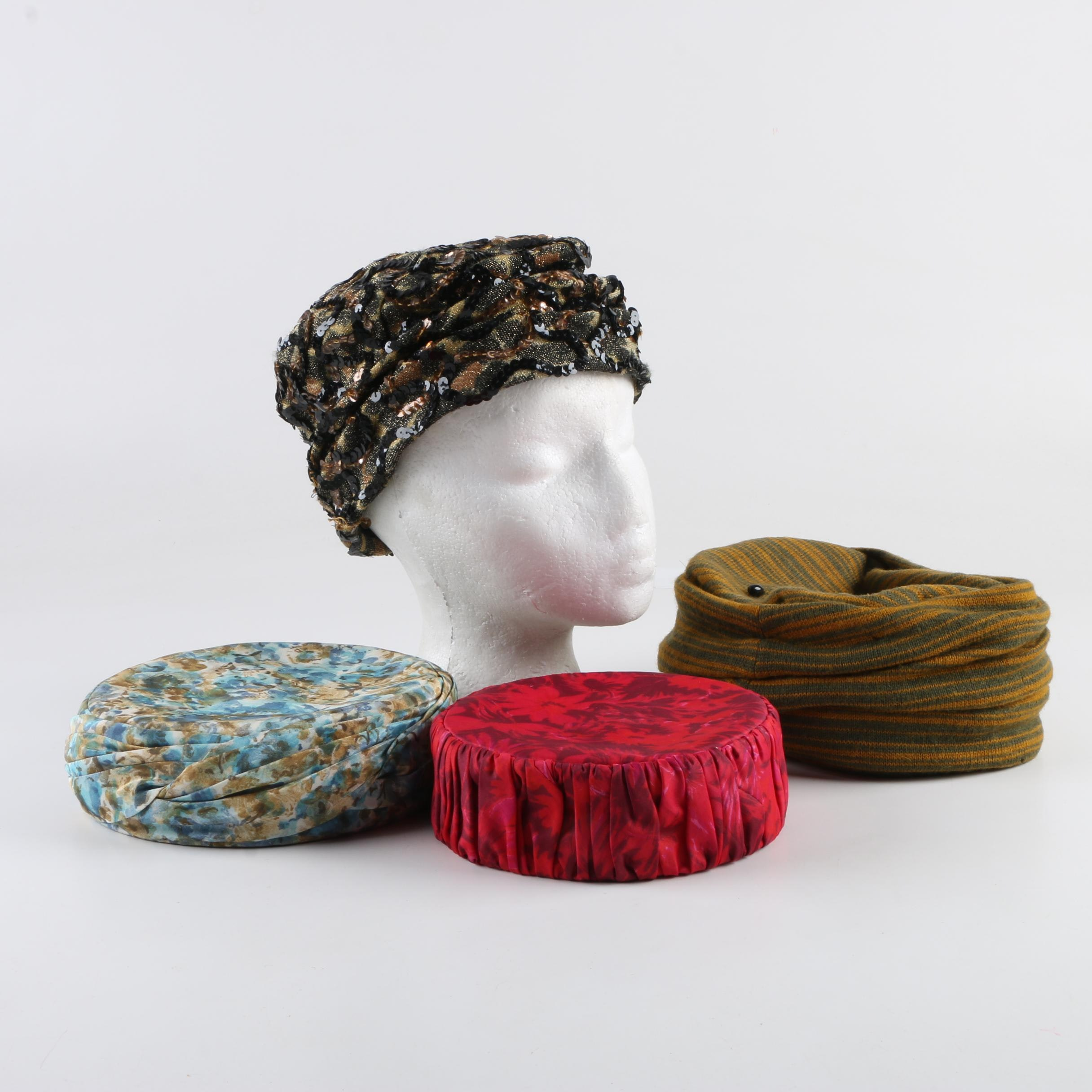 Women's Vintage Pillbox Hats Including Lottie Burleson and Neiman Marcus