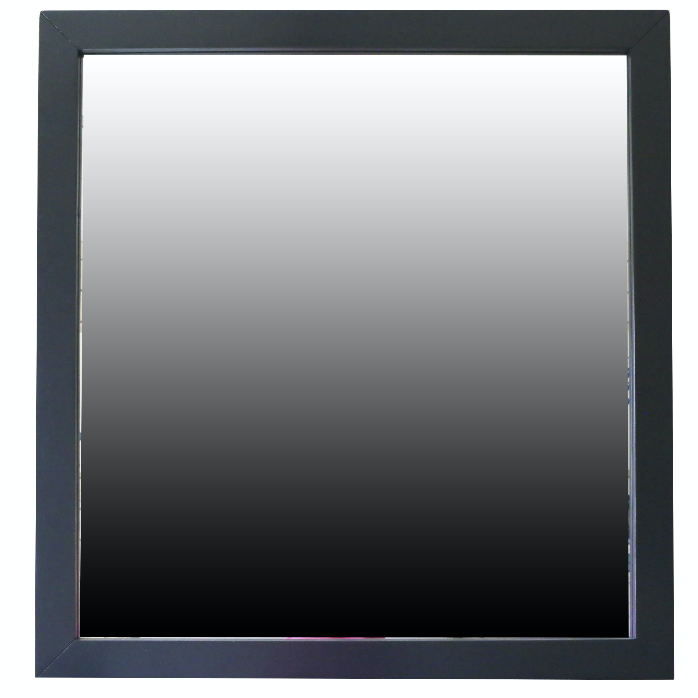 Painted Wood Framed Wall Mirror