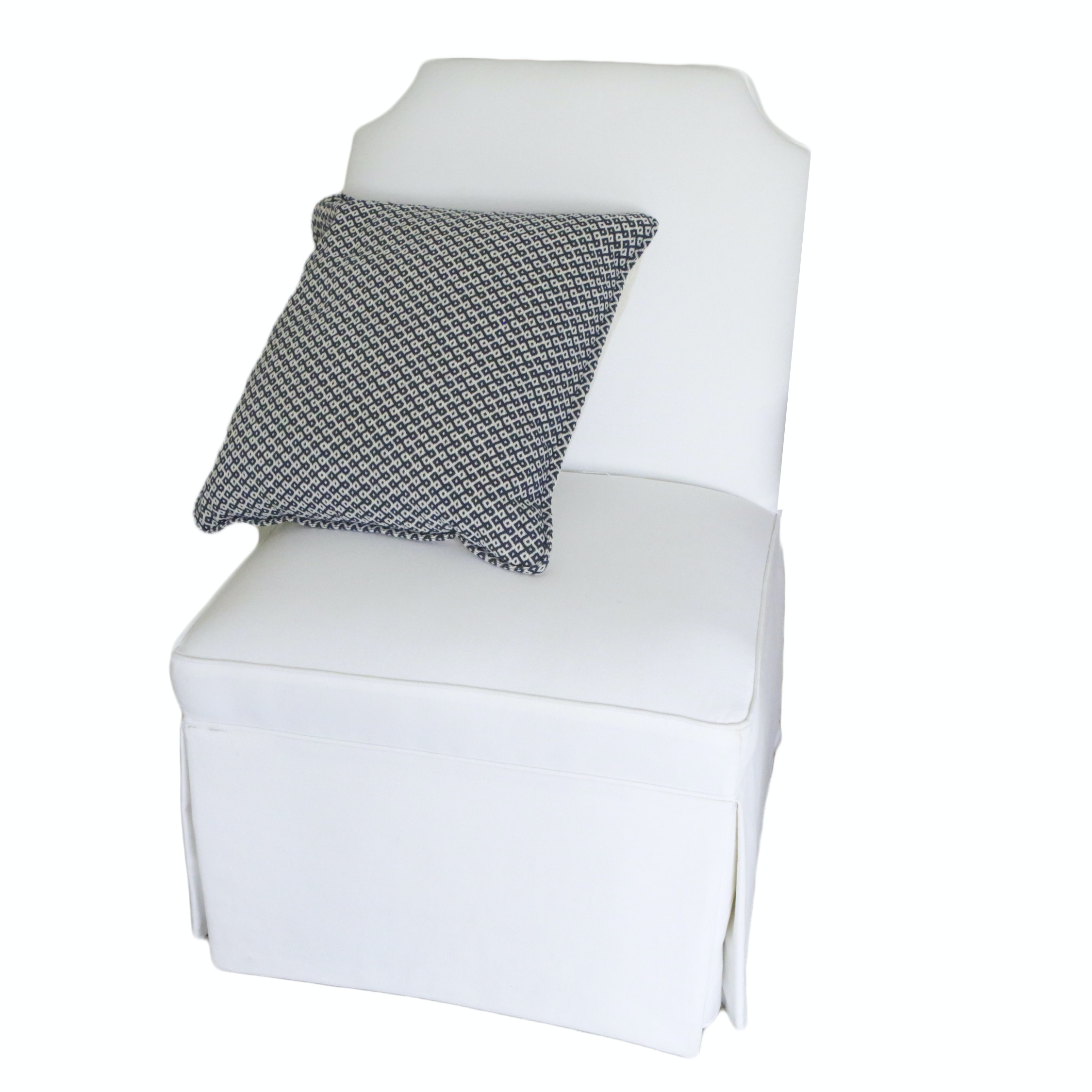 White Upholstered Accent Chair