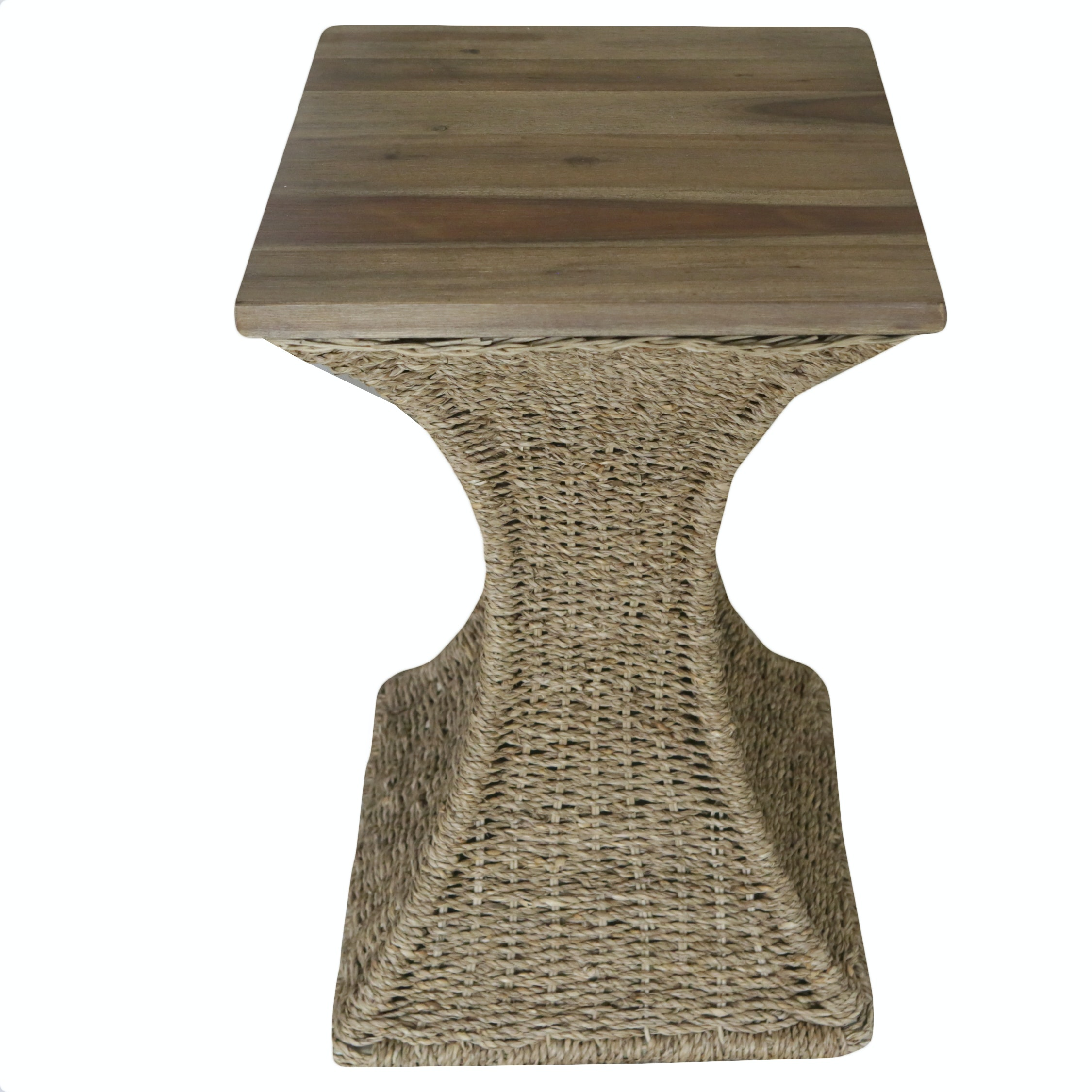Woven Base Side Table