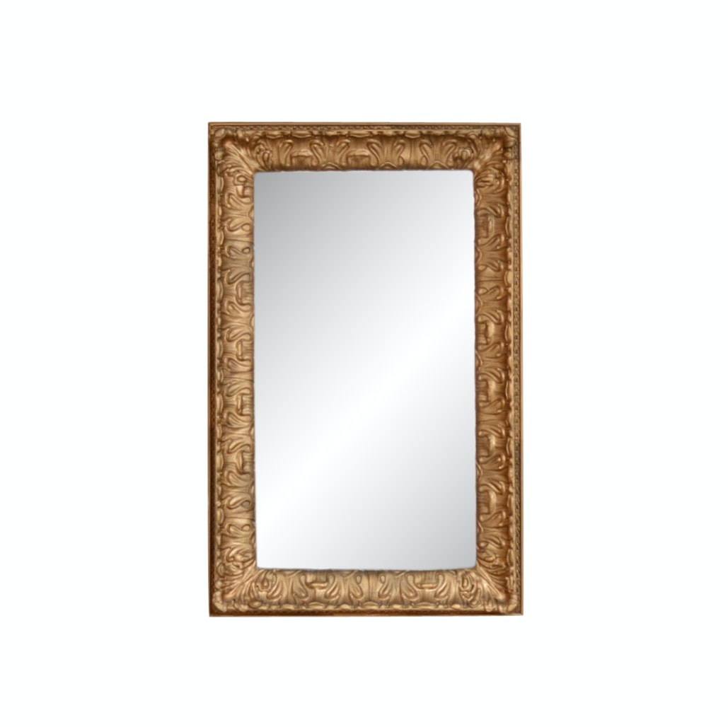 Vintage Gold-Tone Wooden Wall MIrror