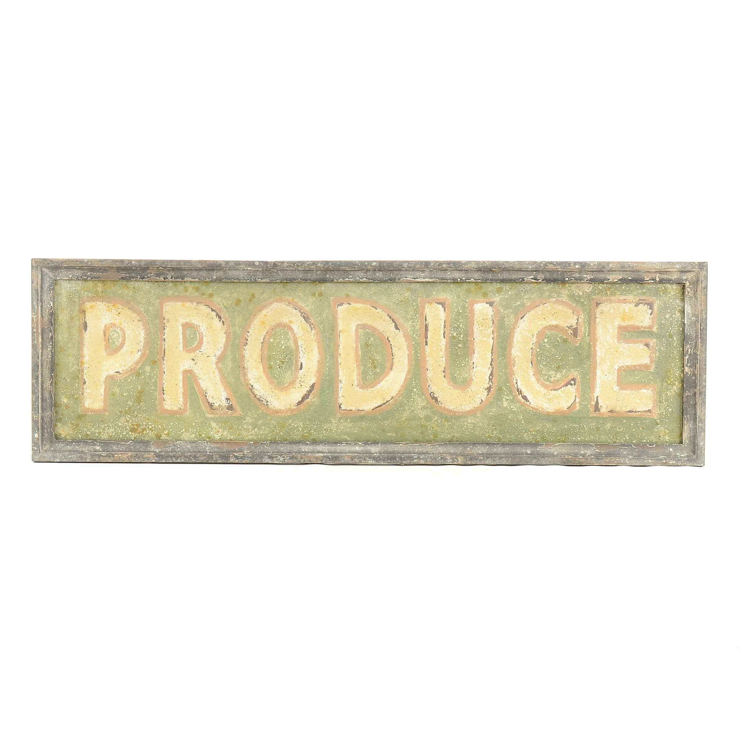 """""""Produce"""" Decorative Sign"""