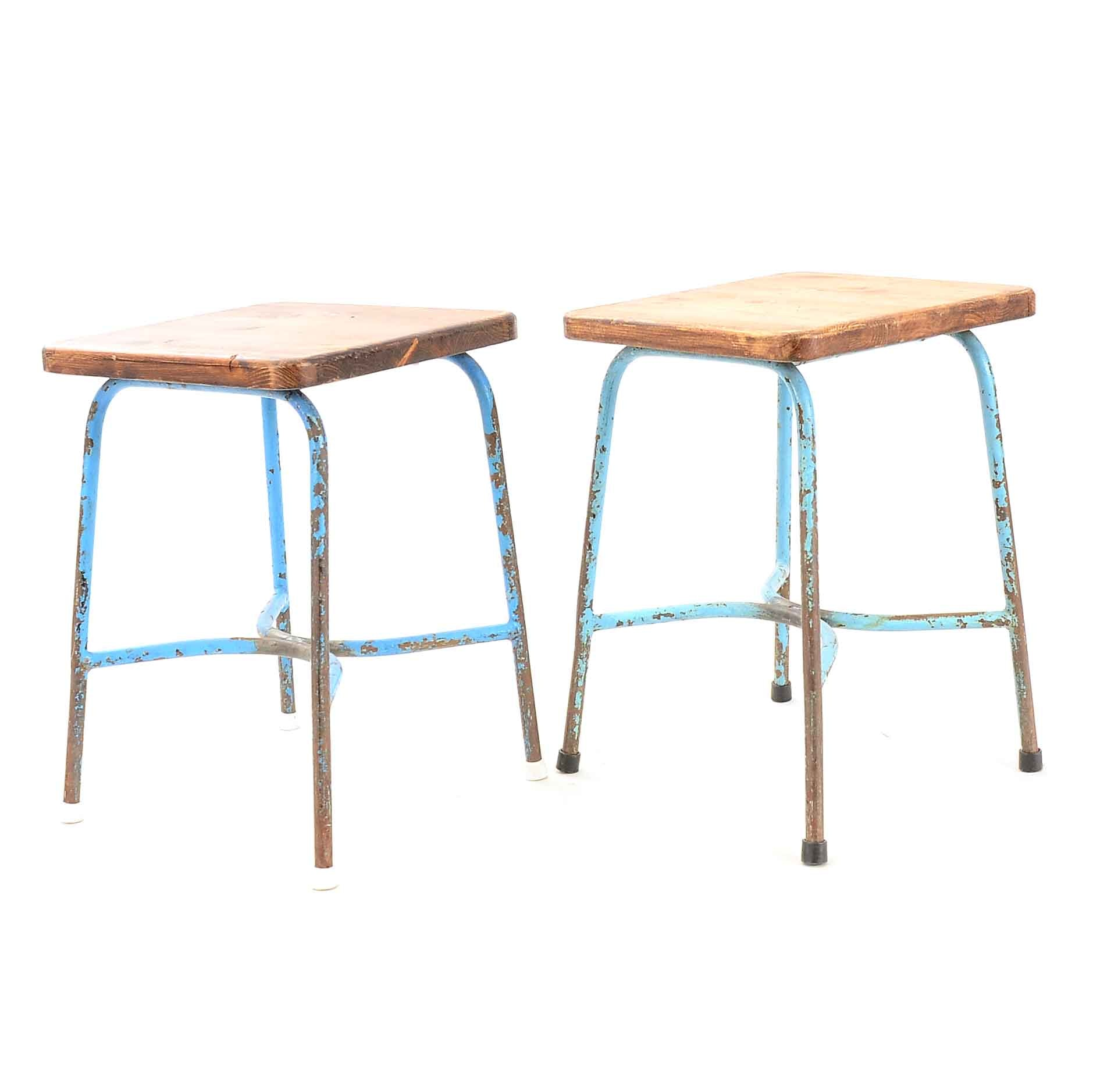Pair Of Garden Stools