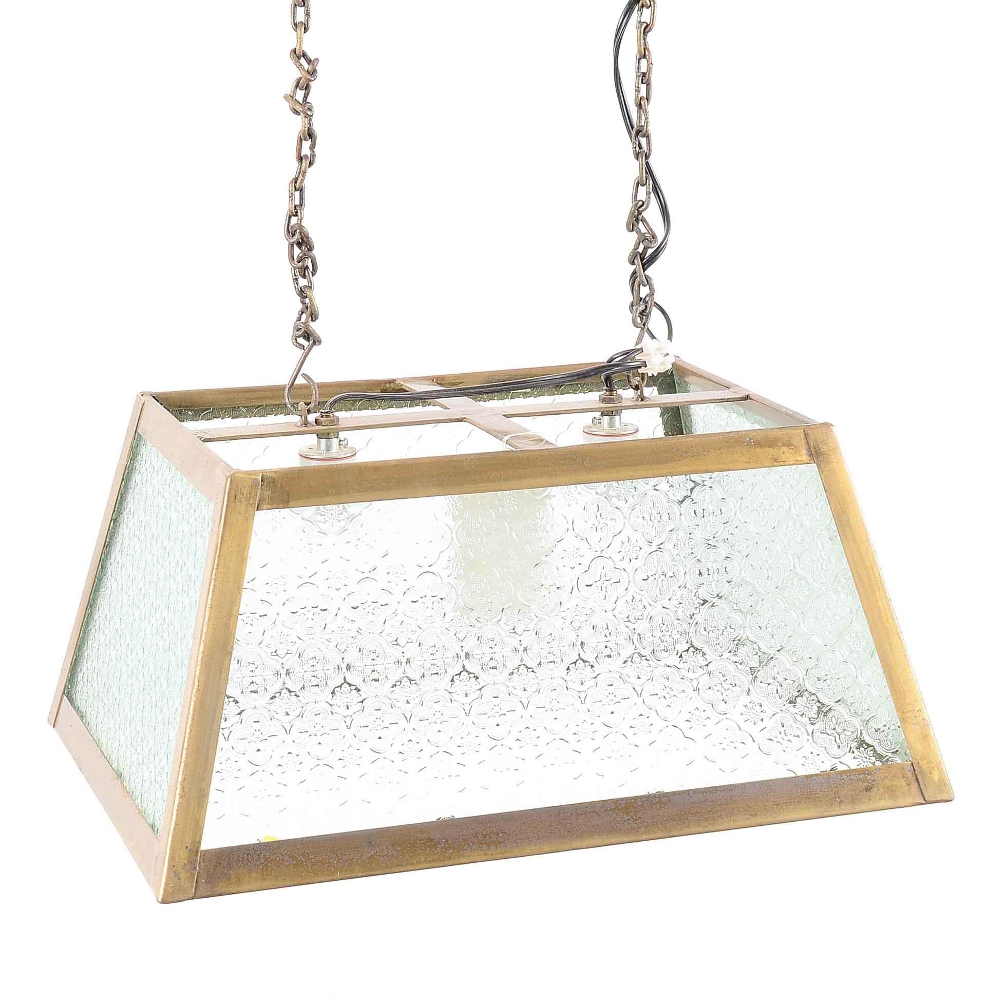 Embossed Glass Pendant Light