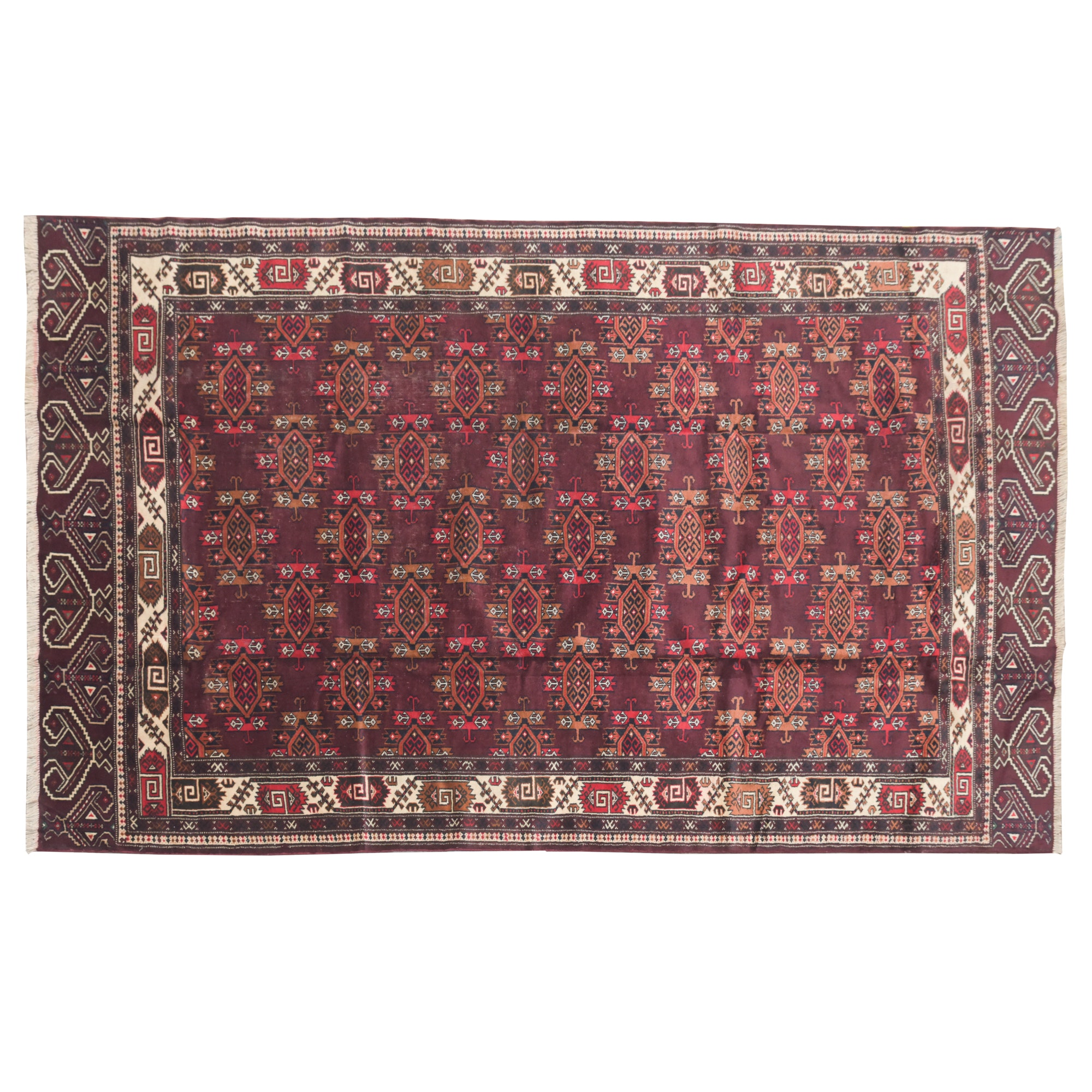Hand-Knotted Turkish Yomut Wool Area Rug