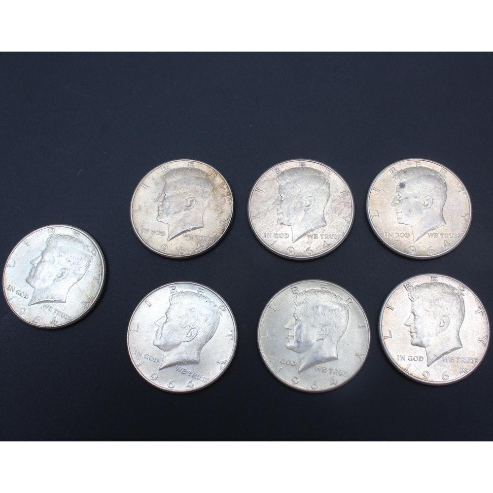 1964 Kennedy Silver Half Dollars