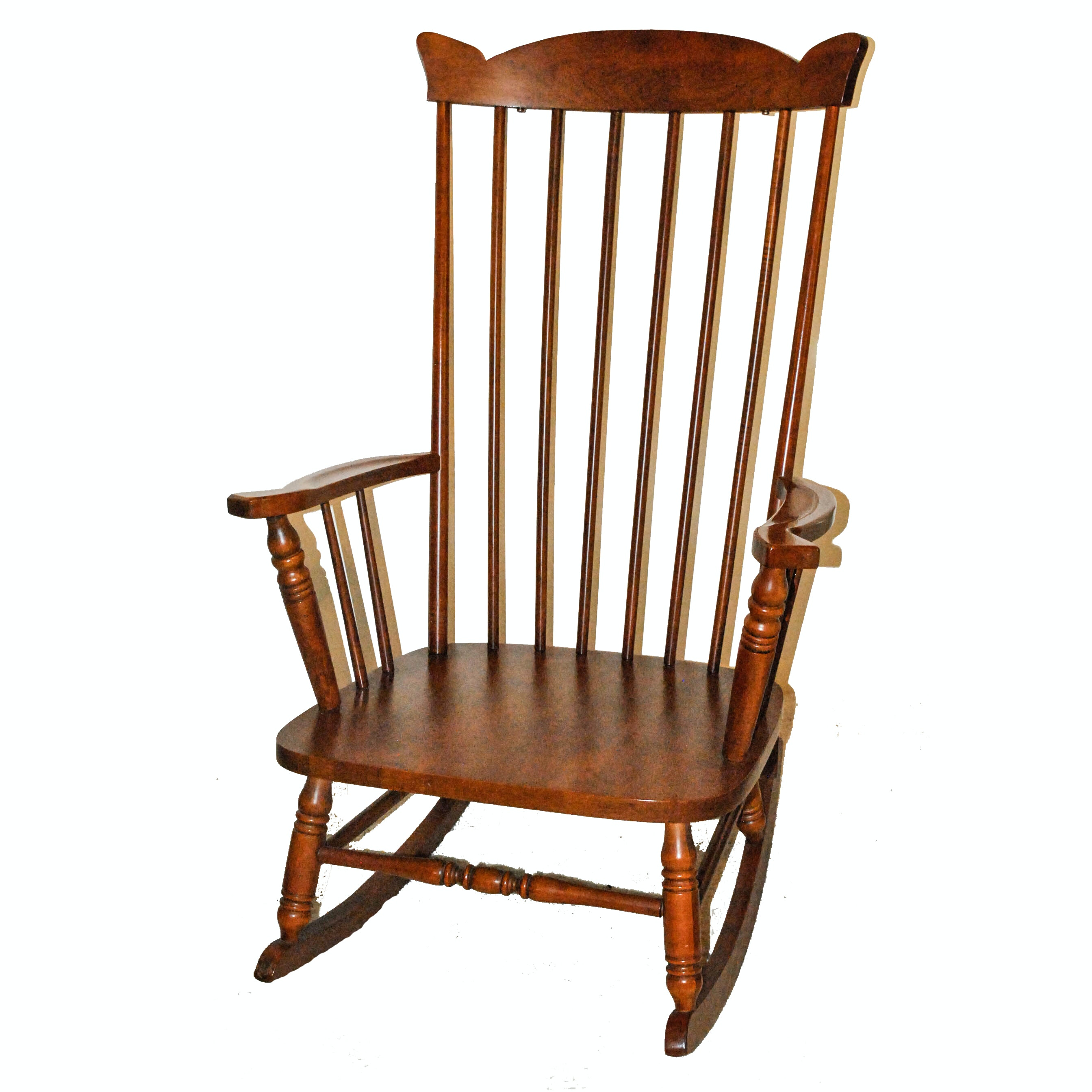 Spindle Back Wooden Rocking Chair