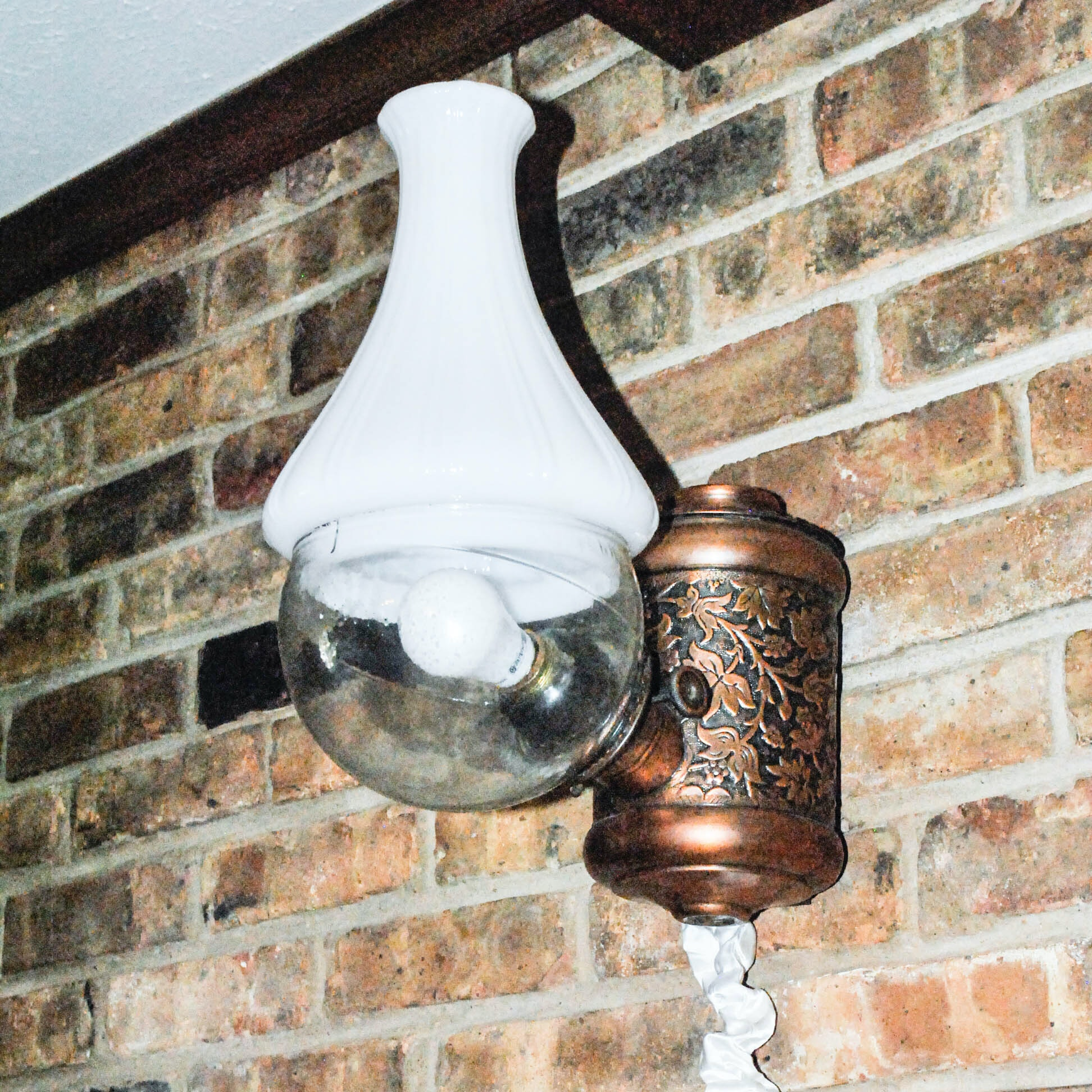 Replica Converted Oil Lamp Wall Sconce