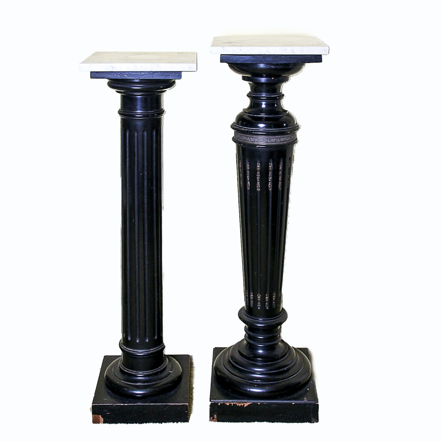Vintage Neoclassical Style Pedestals