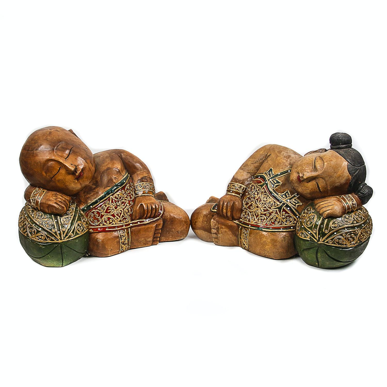 Chinese Statues of Sleeping Children