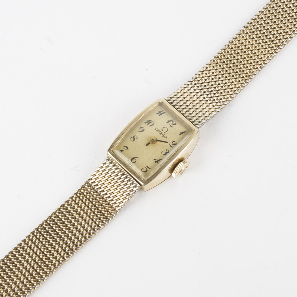 Omega Yellow Gold Filled Wristwatch