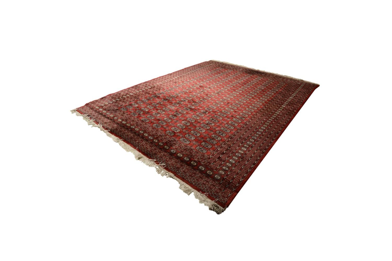 Vintage Hand-Knotted Pakistani Bokhara Wool Area Rug