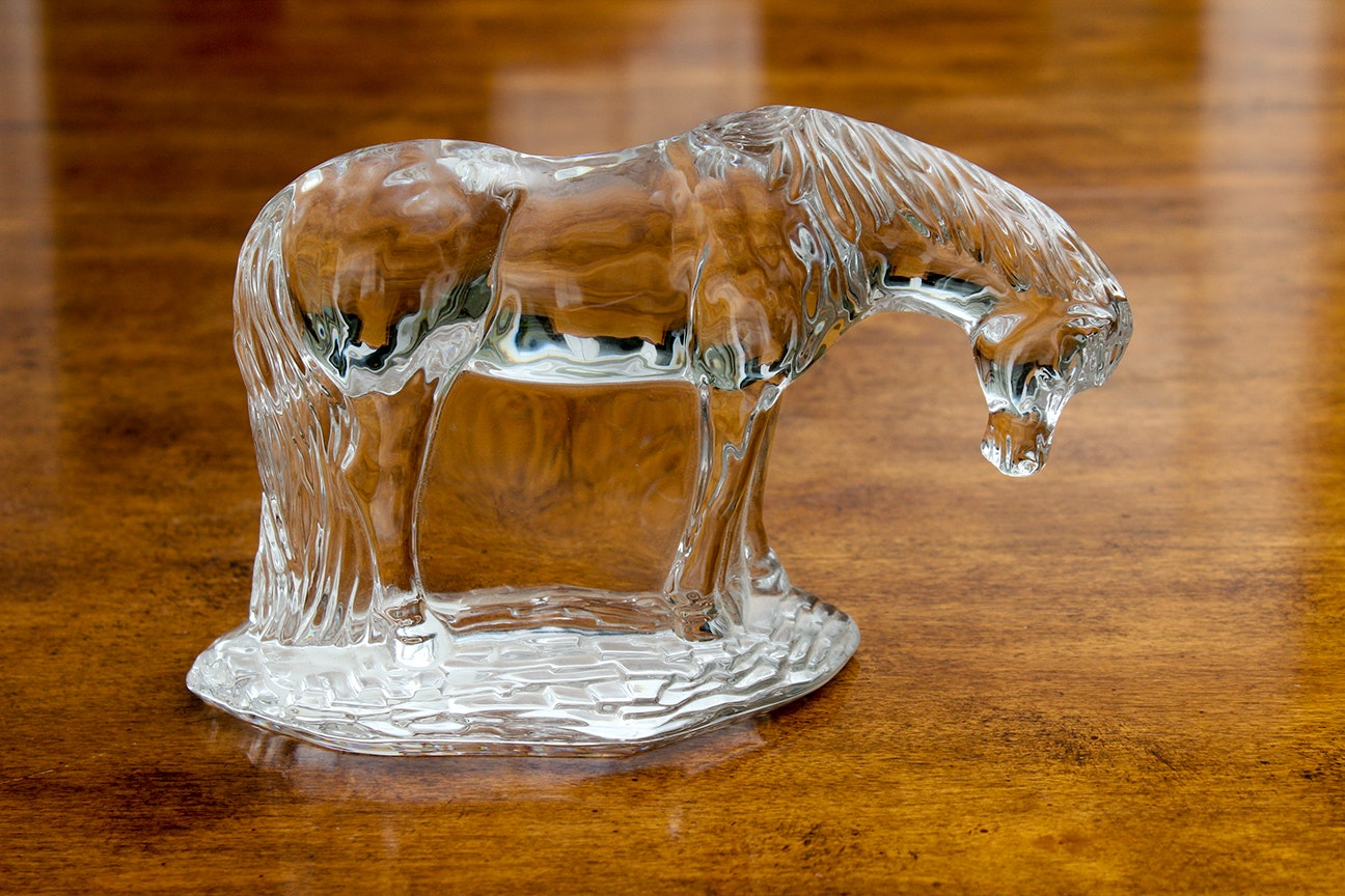 "Waterford ""Mother and Foal"" Crystal Figurines"