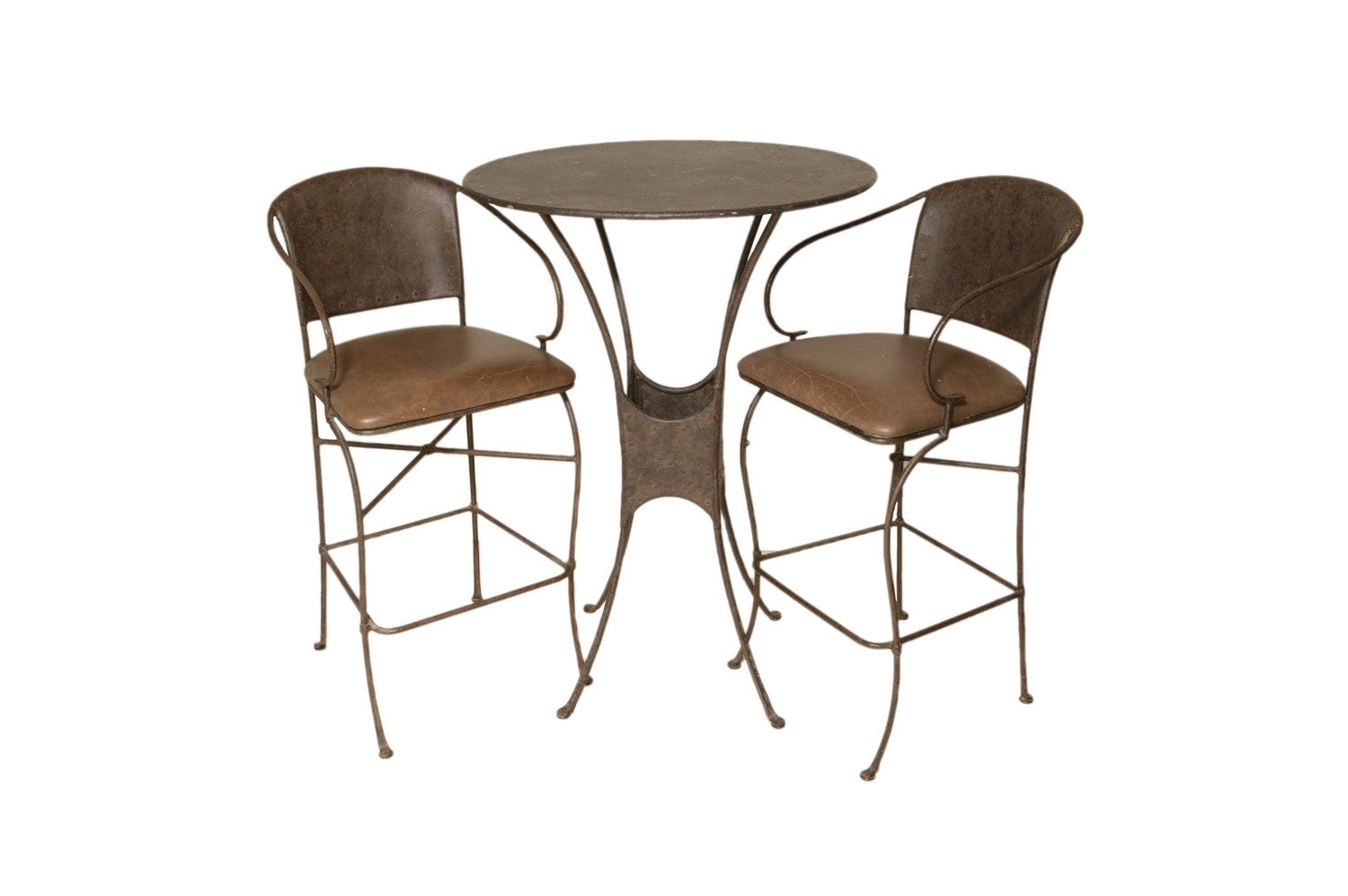 Contemporary Metal Pub Table and Chairs by Pier 1