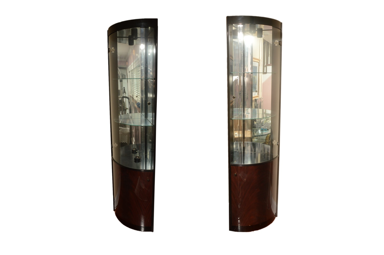 Contemporary Corner Curio Cabinets by FBL Pesaro Italy