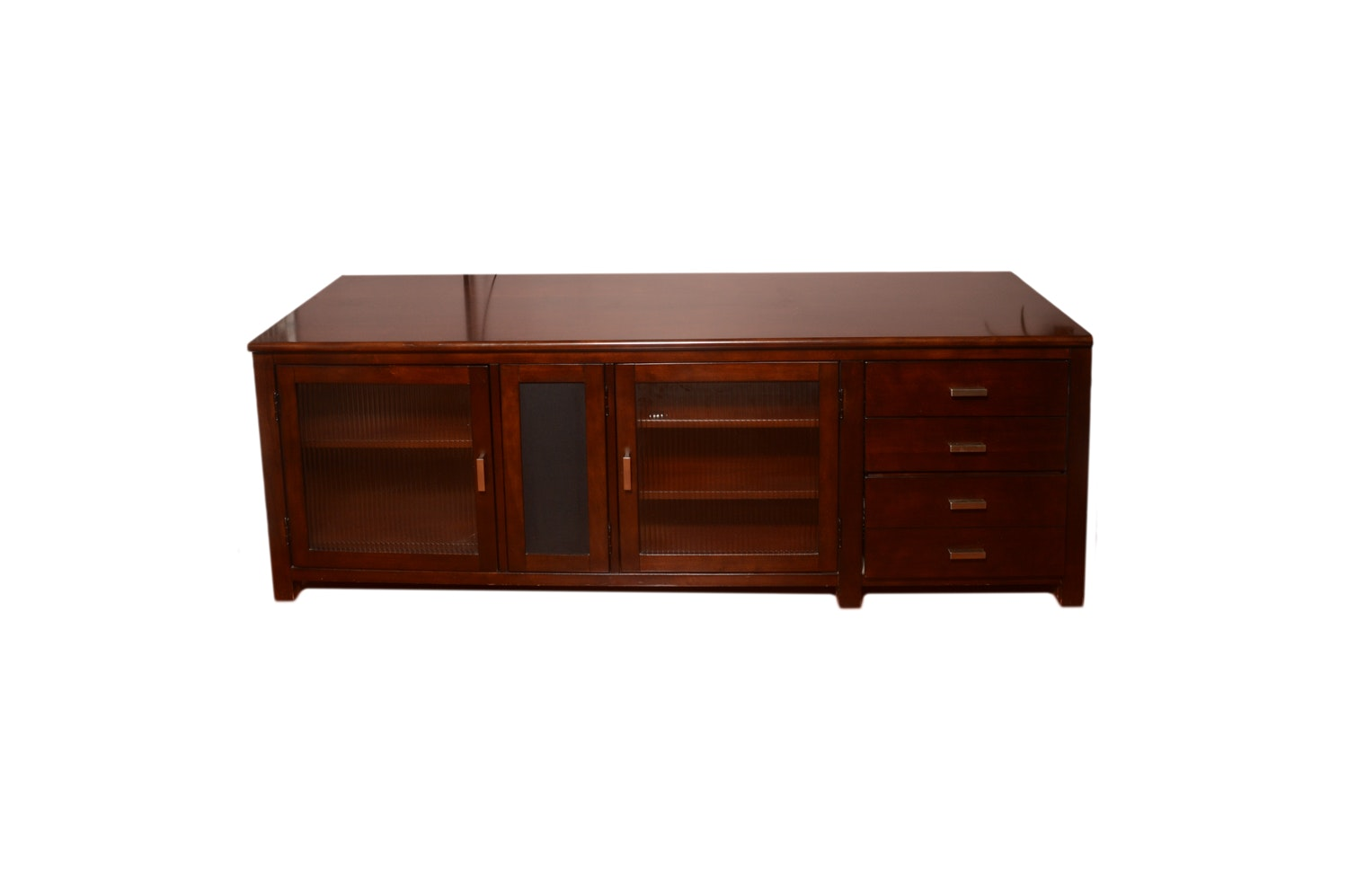Contemporary Cherry Laminate Entertainment Console