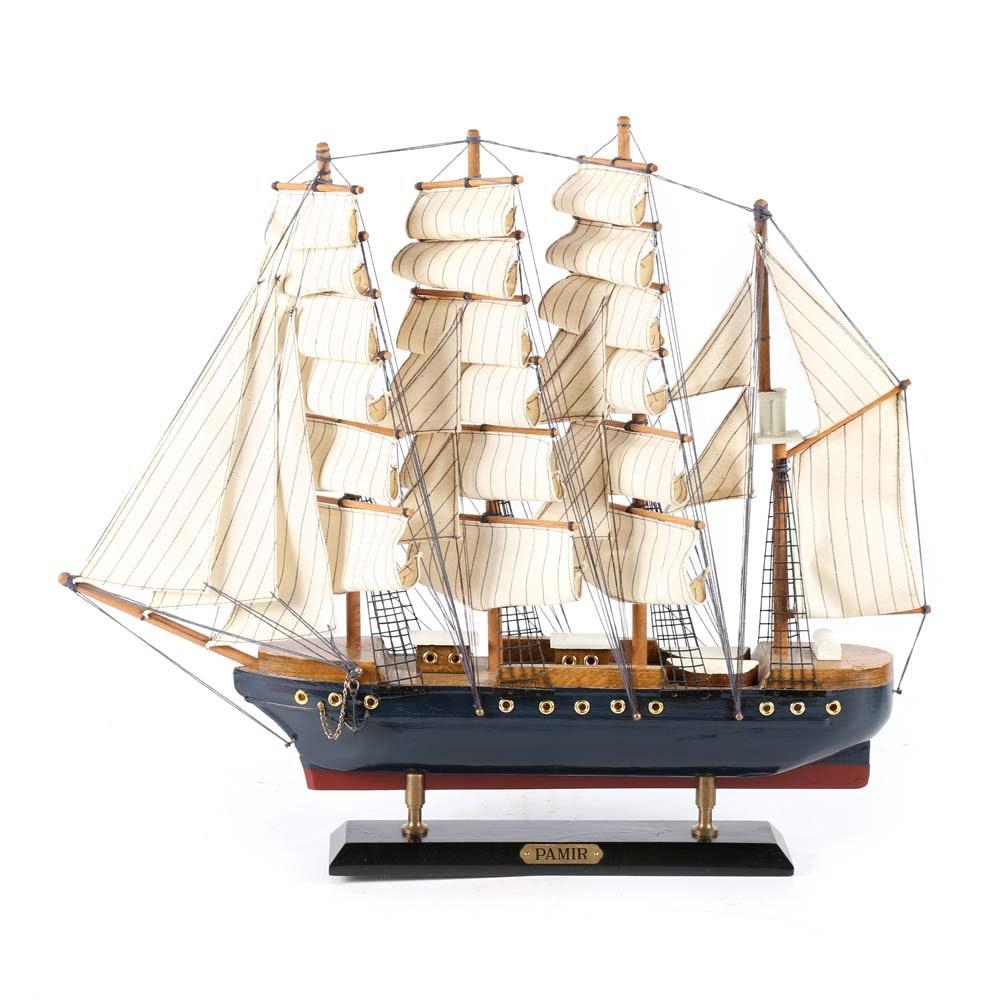 Vintage Pamir Barque Windjammer Model Ship
