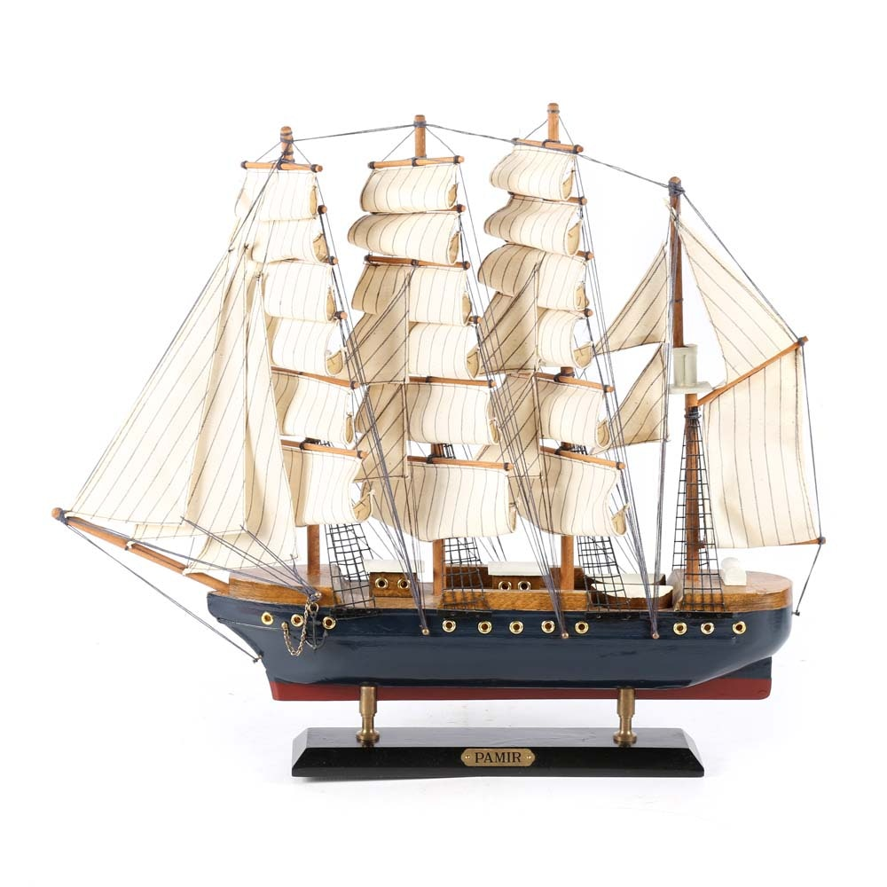 Vintage Pamir Barque Windjammer Model Ship
