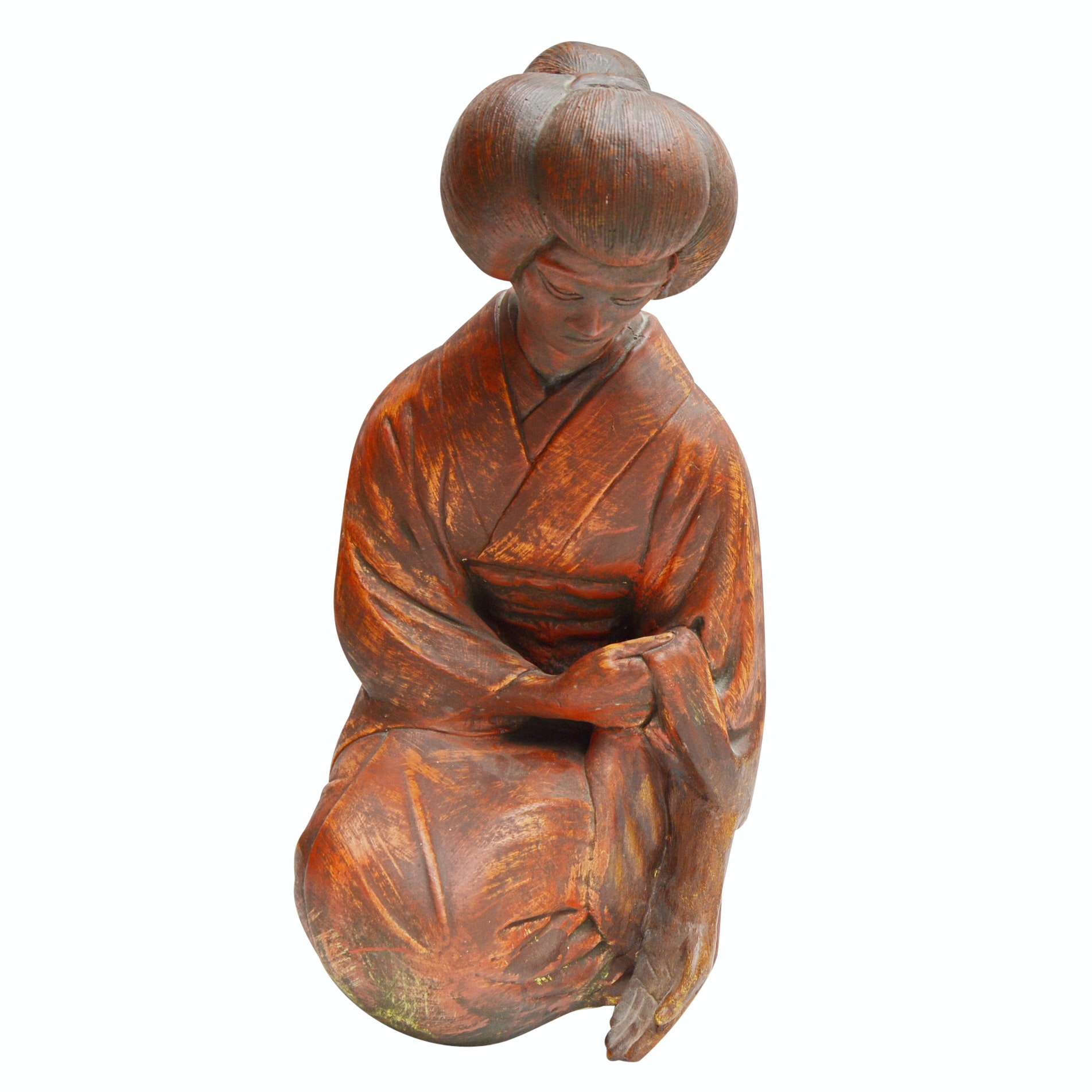 Plaster Statue of a Japanese Woman