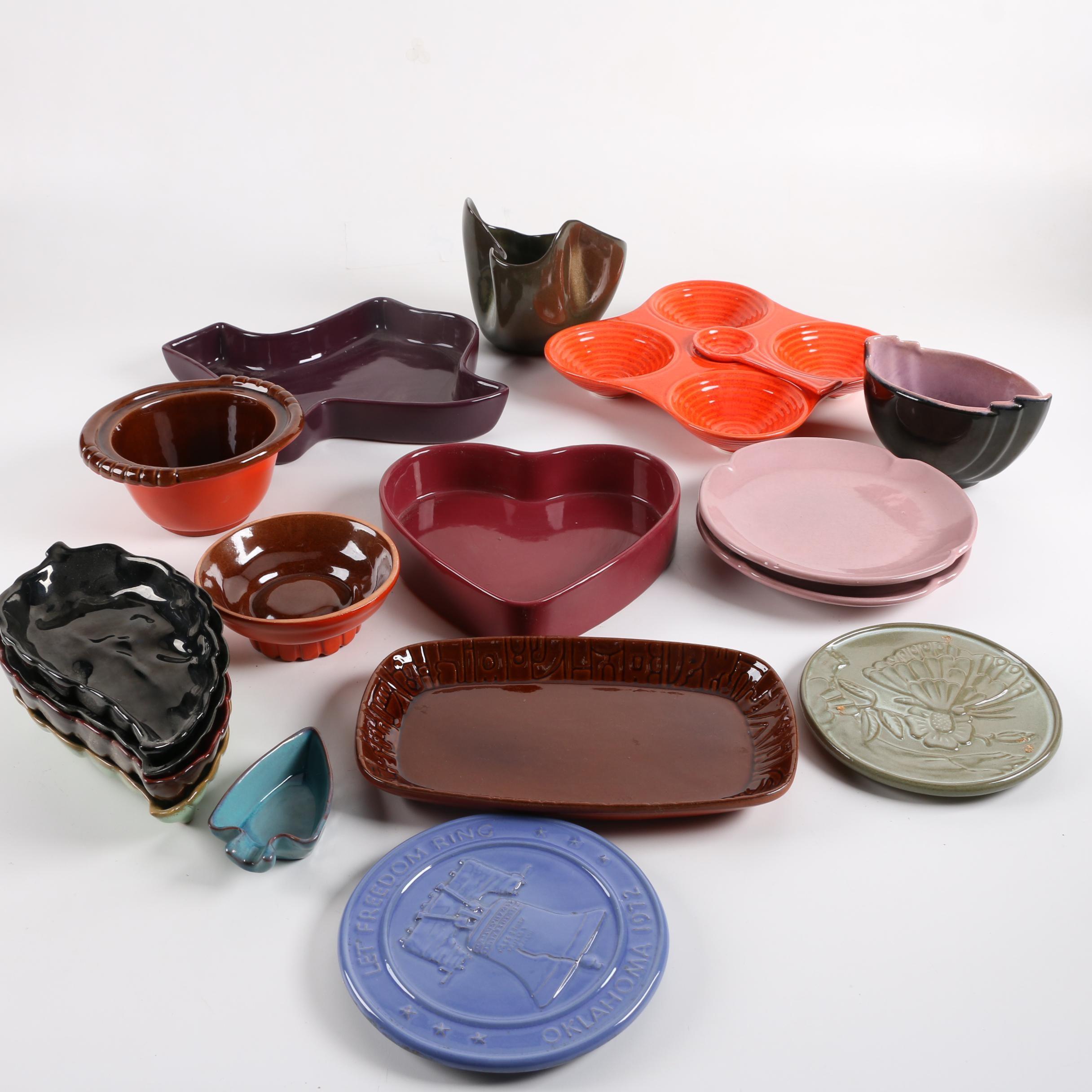 Vintage Frankoma Pottery Serveware