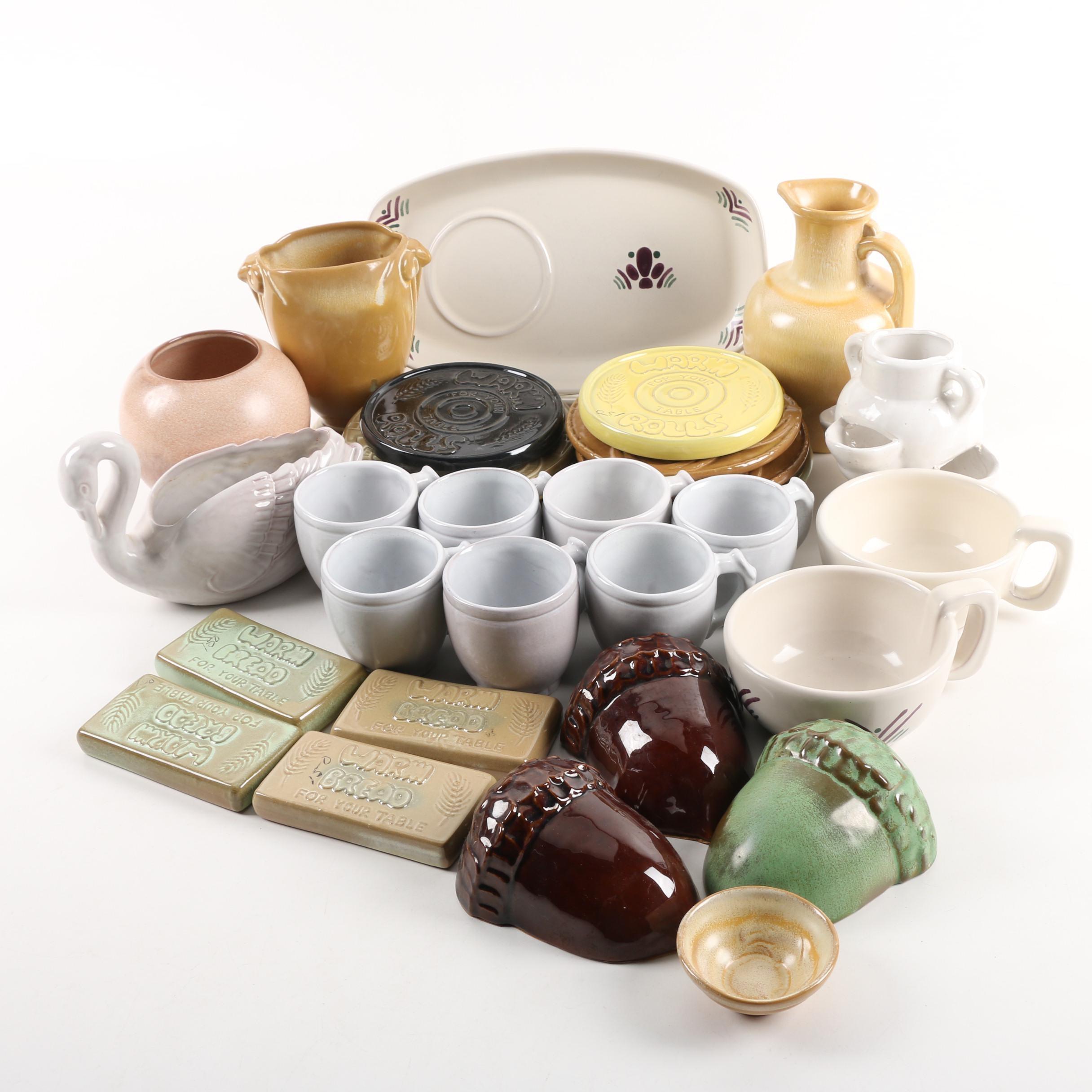 Vintage Frankoma Pottery Vases, Serveware, and Other Decor