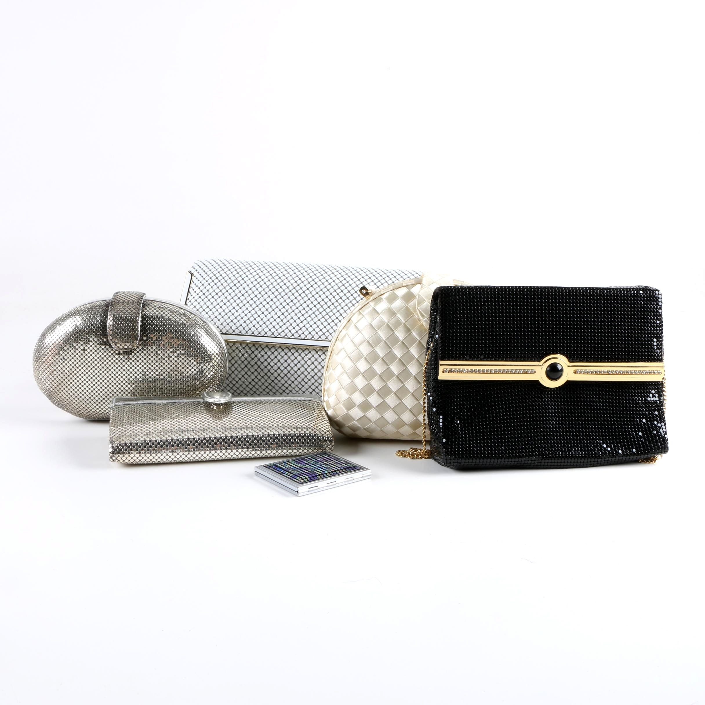 Vintage Whiting & Davis Evening Bags, Clutches, Compact and Wallet