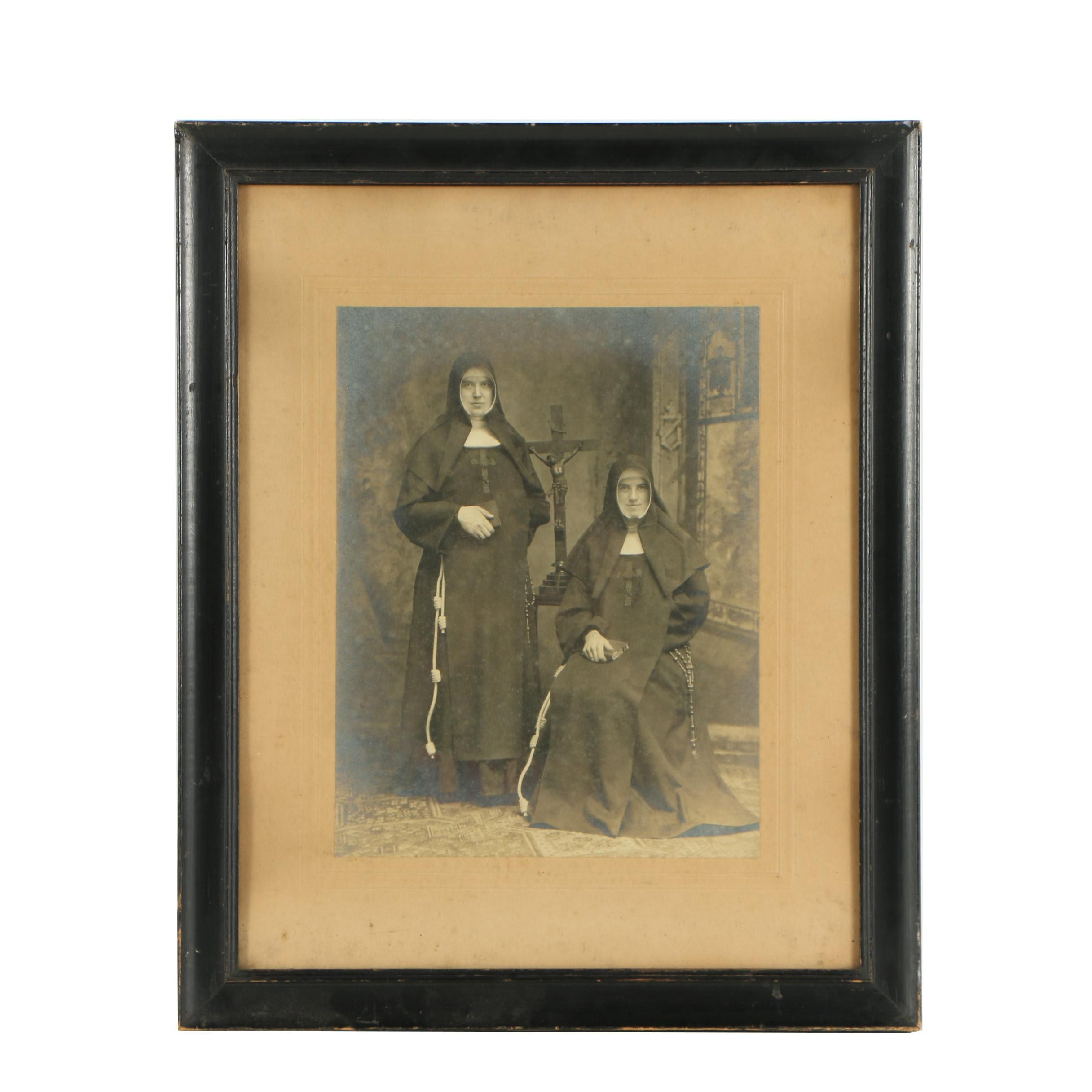 Gelatin Silver Print Photograph of Twin Sisters