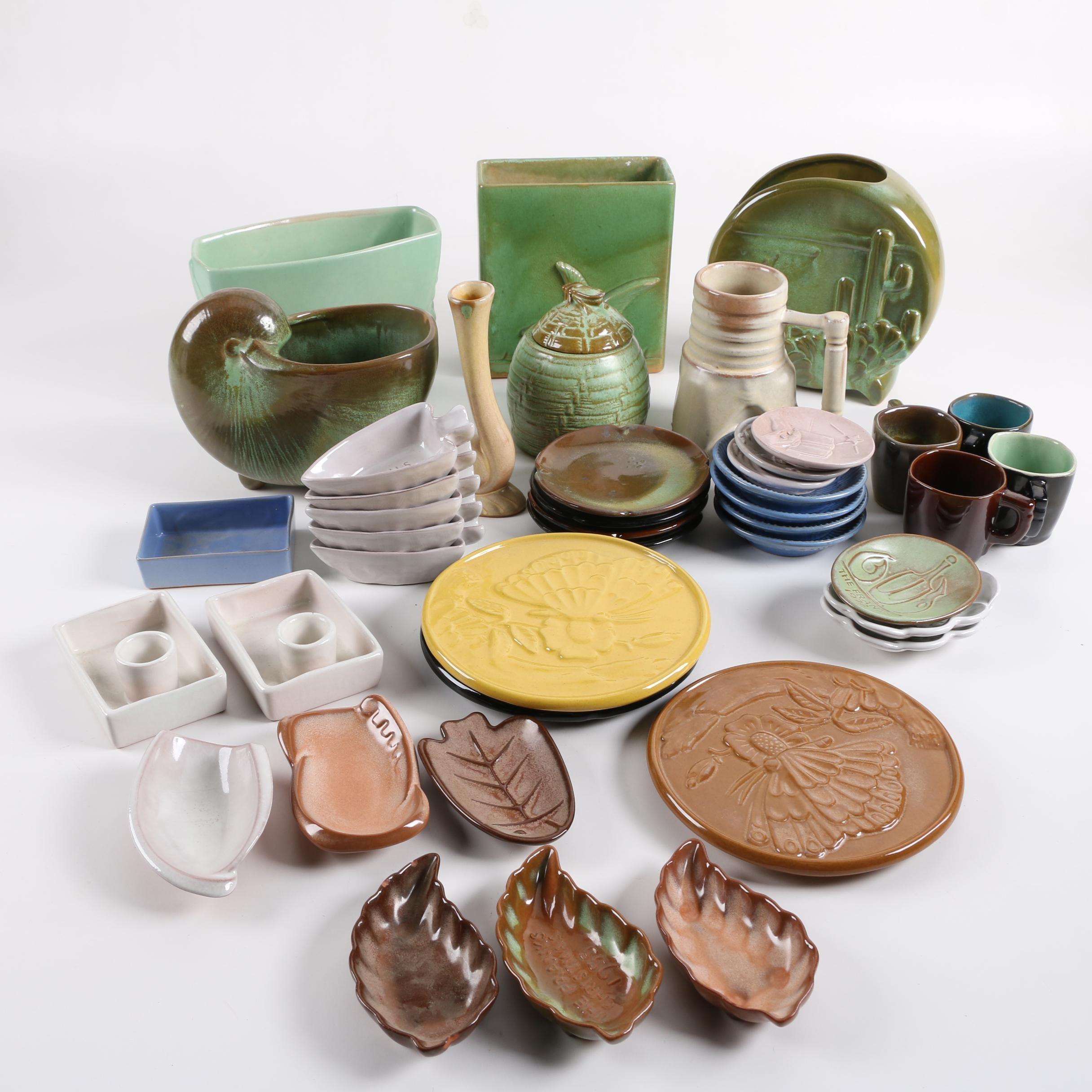 Vintage Frankoma Pottery Vases, Trivets, and Other Decor