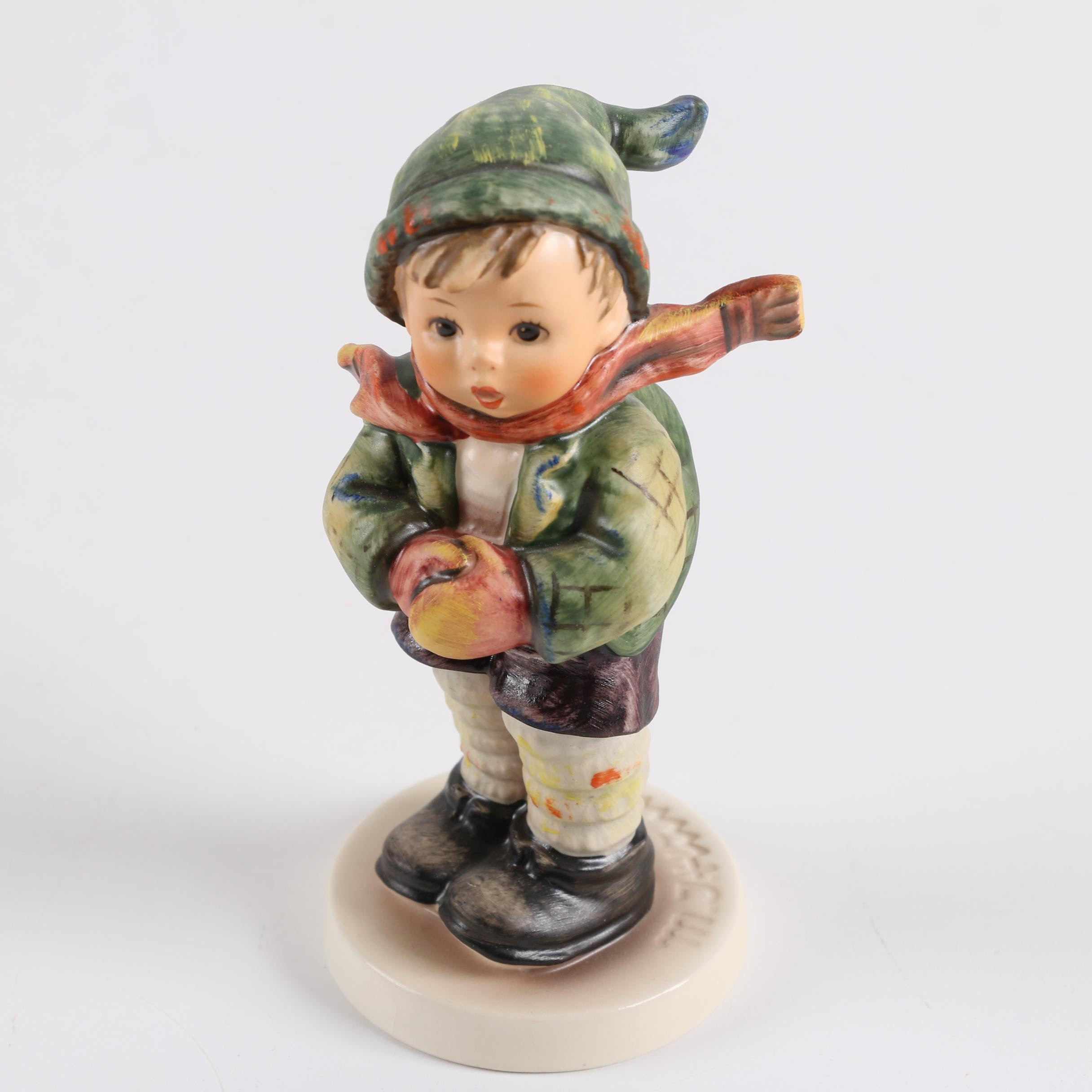 "Vintage Goebel M. I. Hummel Porcelain ""It's Cold"" Figurine"