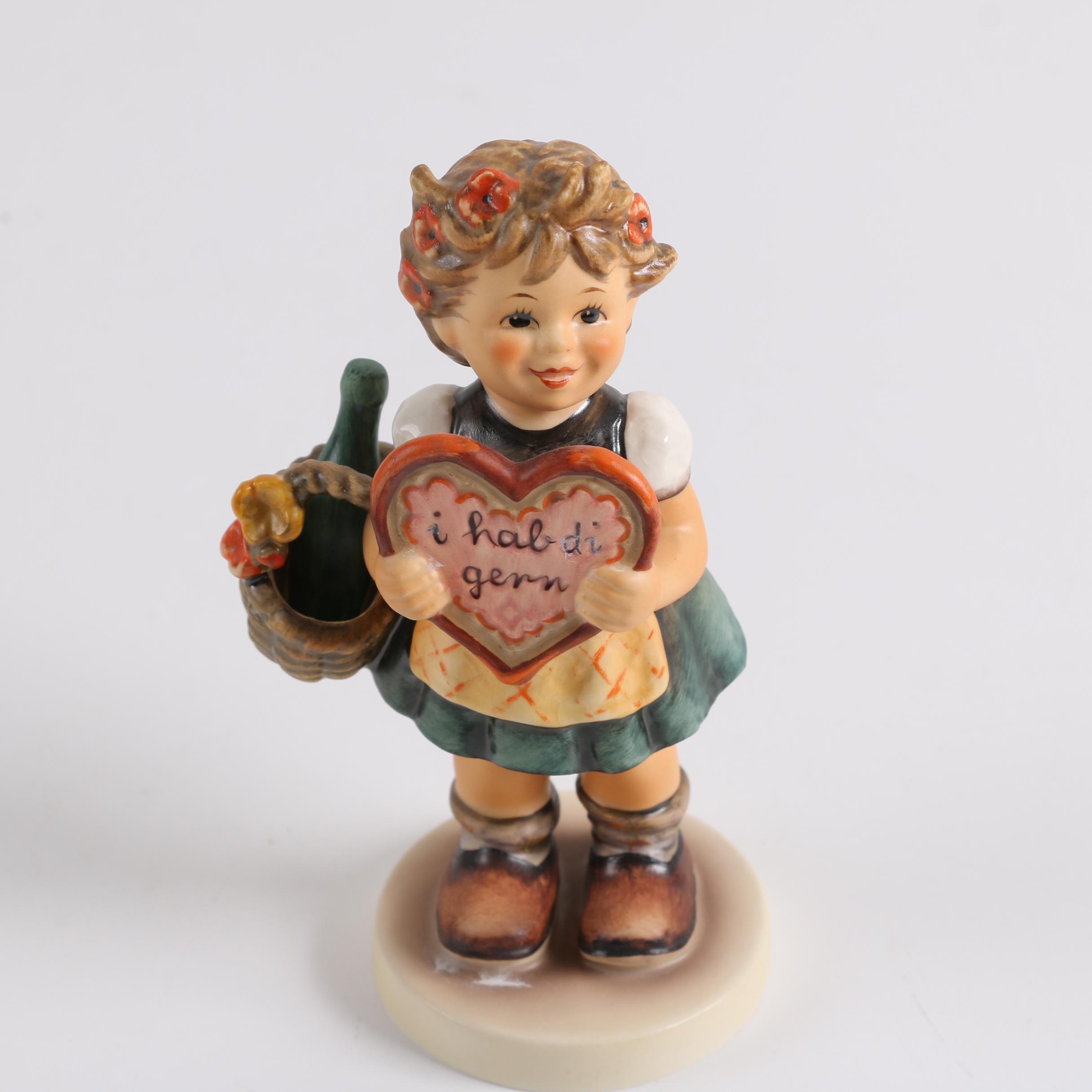 """Vintage Goebel M. I. Hummel Porcelain """"Valentine Gift"""" Figurine"""