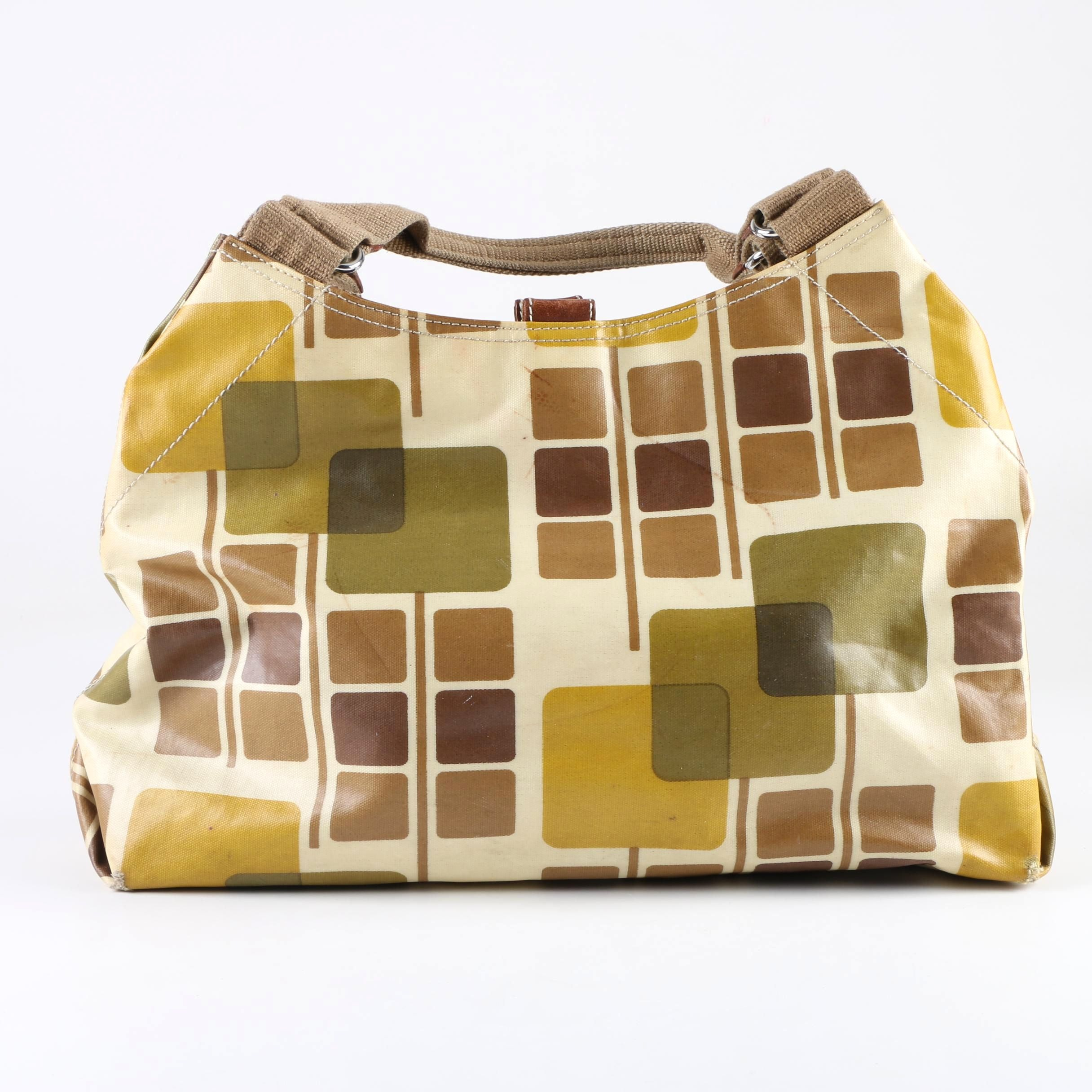 Orla Kiely Mod Print Coated Canvas Handbag