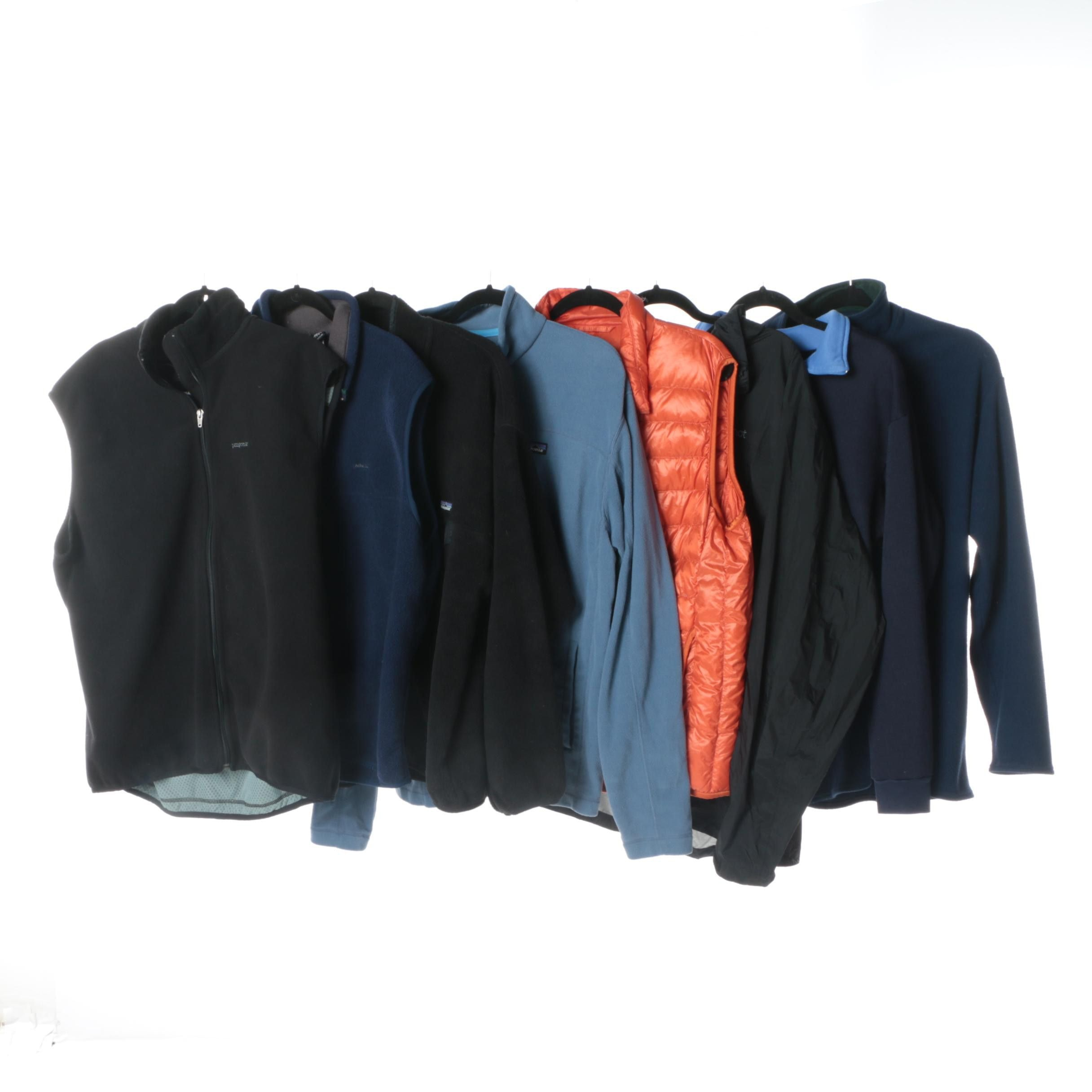 Men's Outerwear Including Patagonia and Marmot