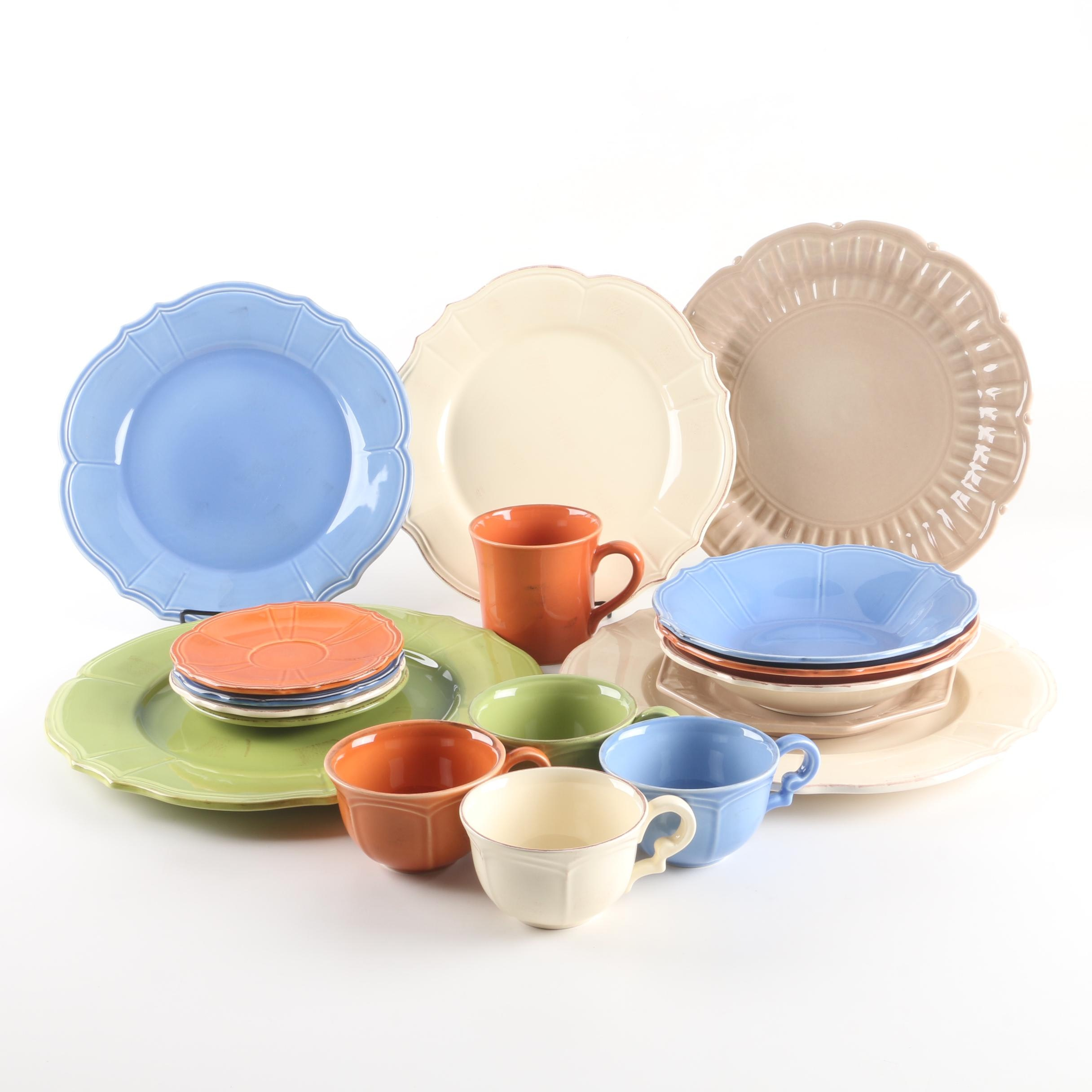 "Niderviller Pottery ""Maintenon Patine"" and ""Beyerle"" Ceramic Tableware"