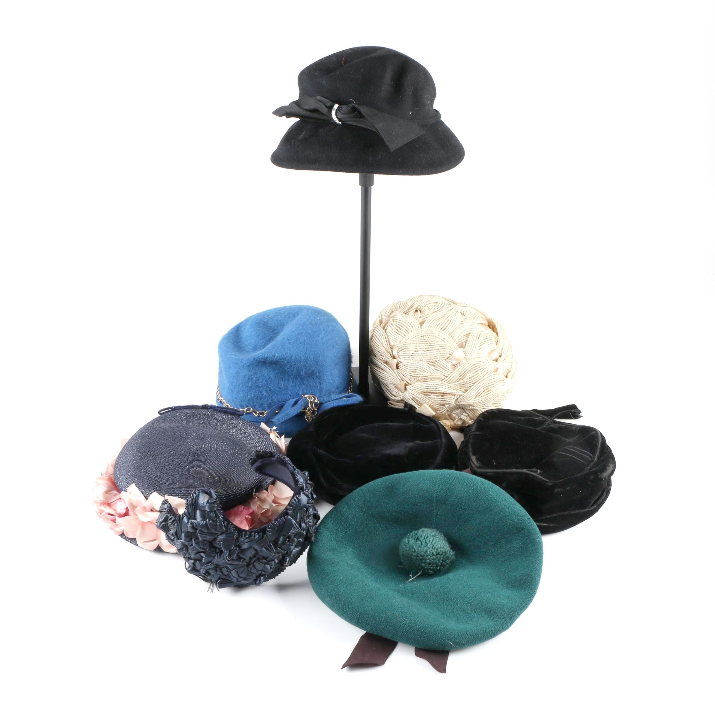 Women's Vintage Hats Including Wethern's and Thomas of Medway