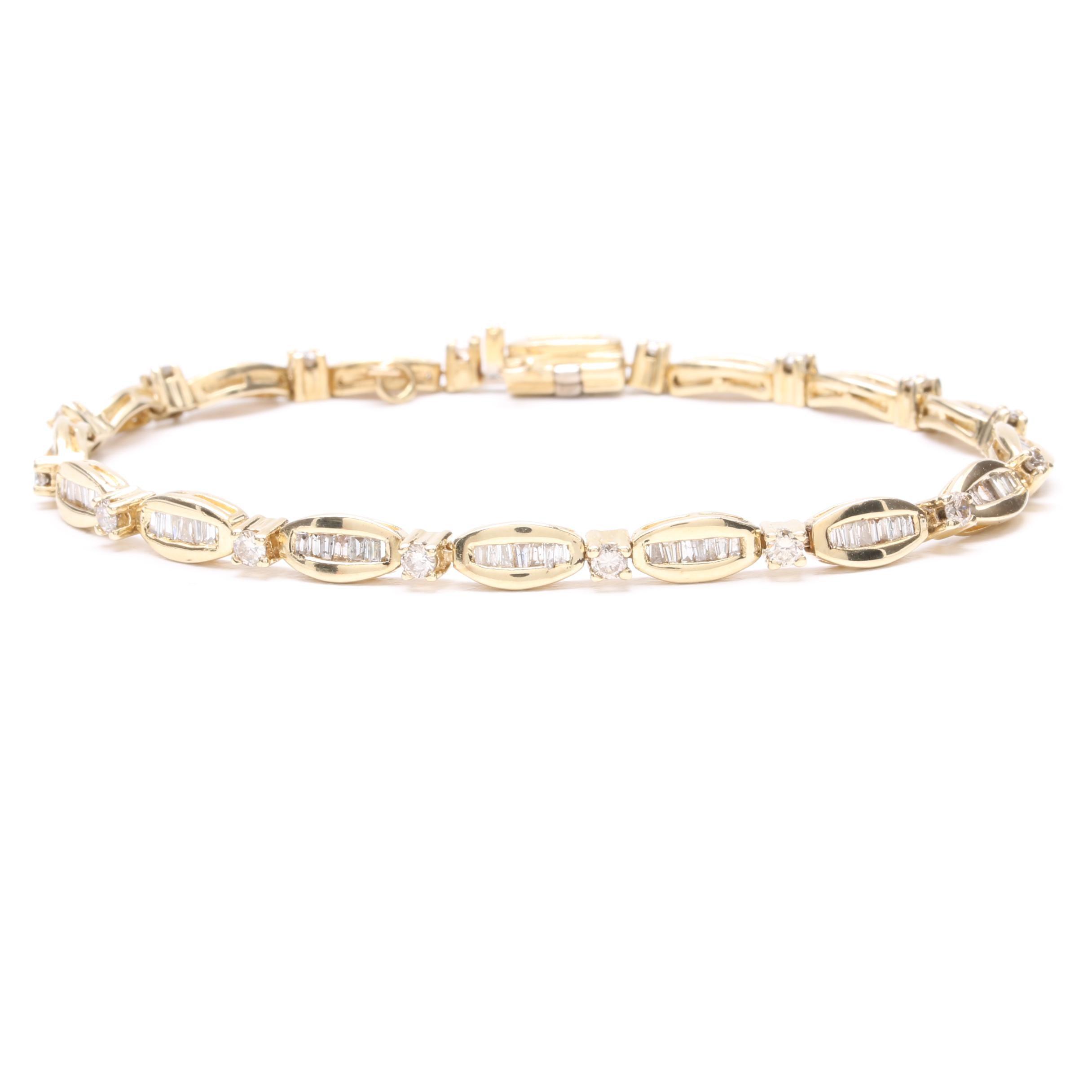 14K Yellow Gold 1.25 CTW Diamond Bracelet