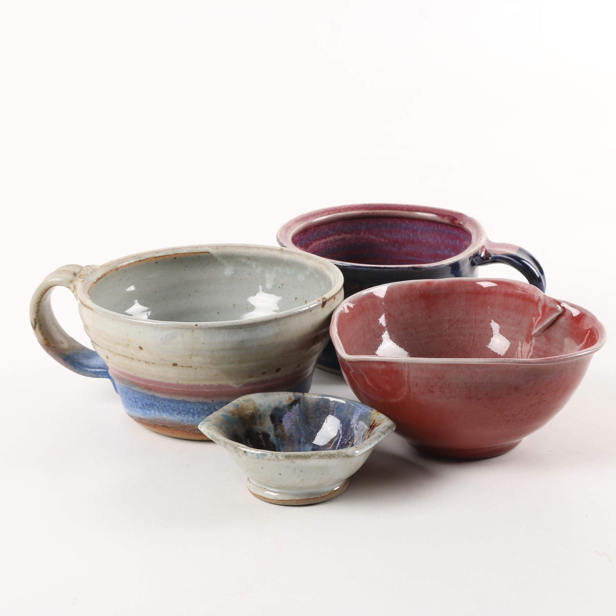 Wheel Thrown Stoneware Mugs and Bowls