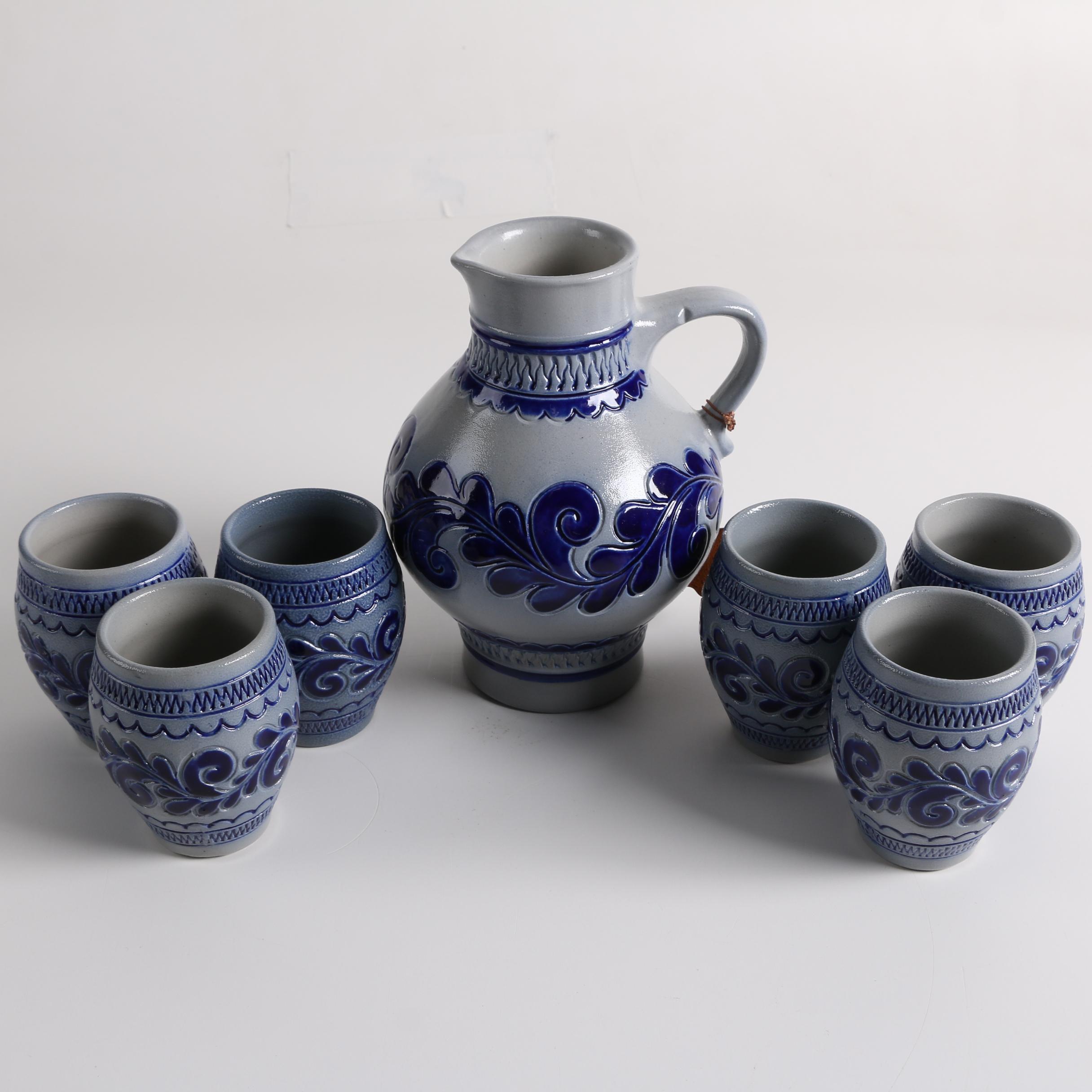 Marzy Remy Salt Glazed Stoneware Decanter Set