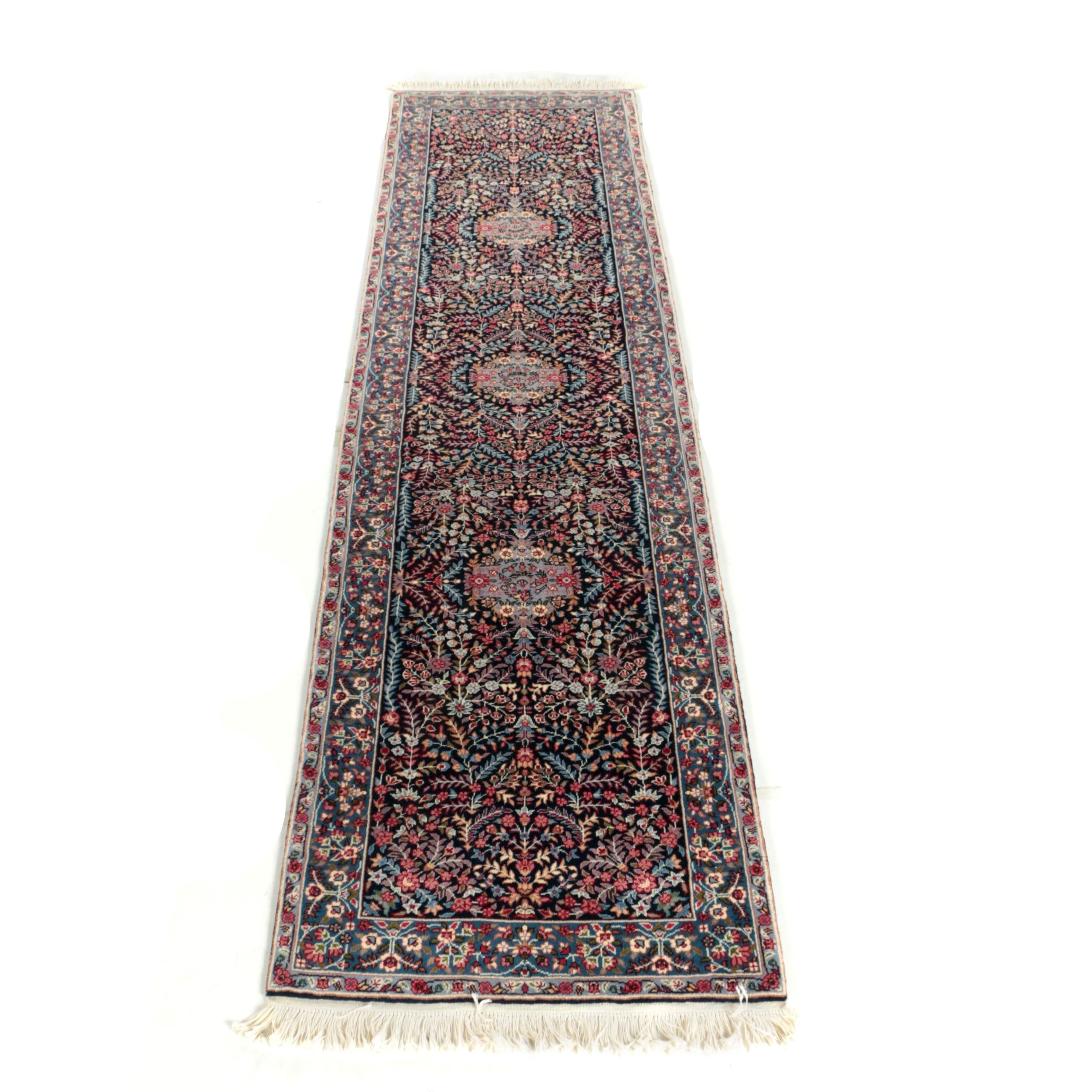 Hand-Knotted Sino-Persian Floral Carpet Runner