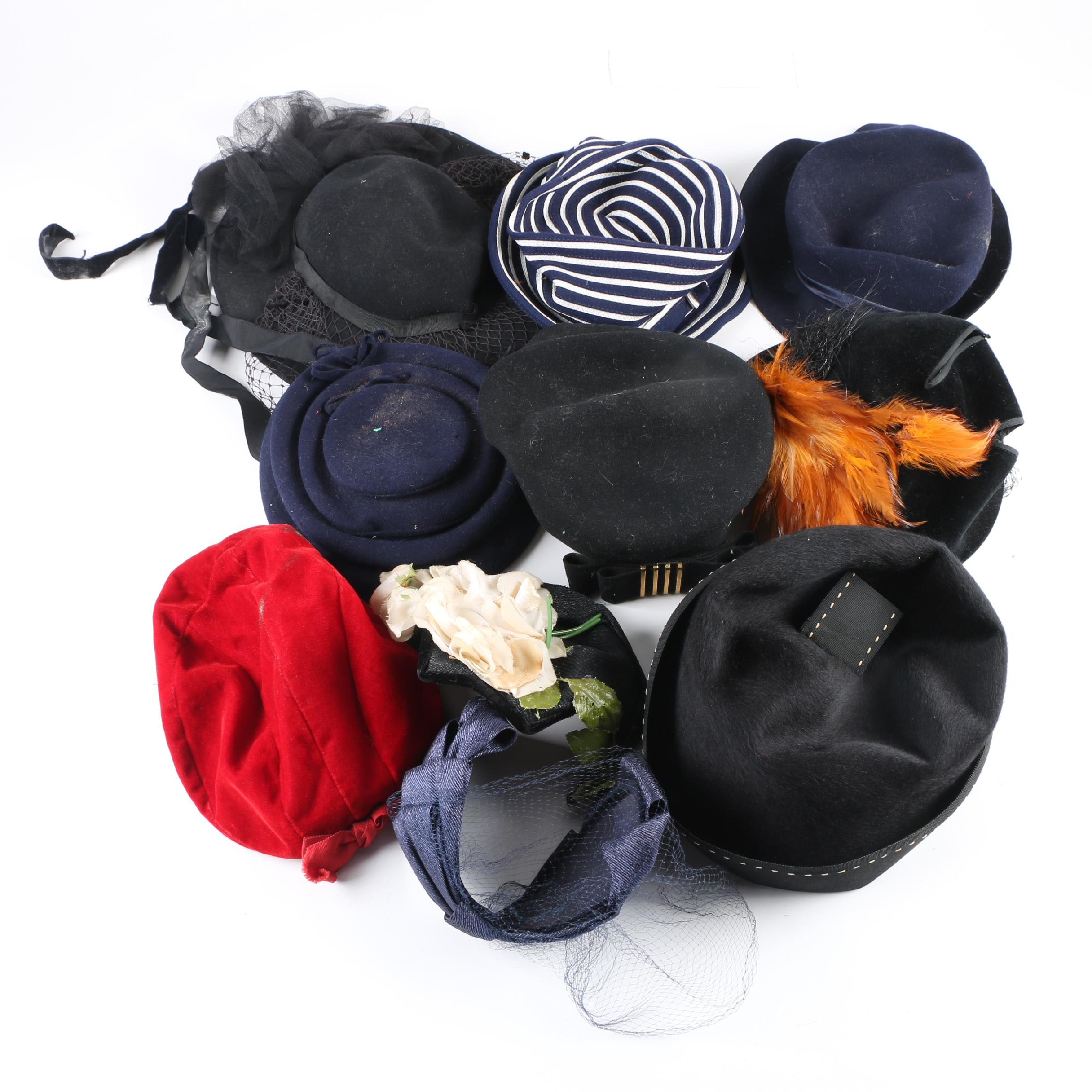 Women's Vintage Hats Including Mr. John Classic