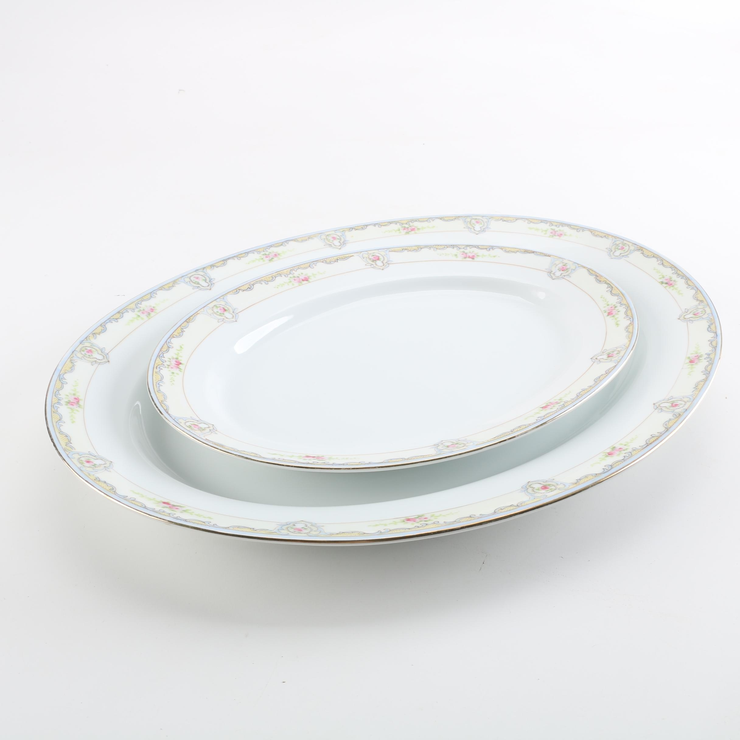 Field Japan China Oval Serving Platters