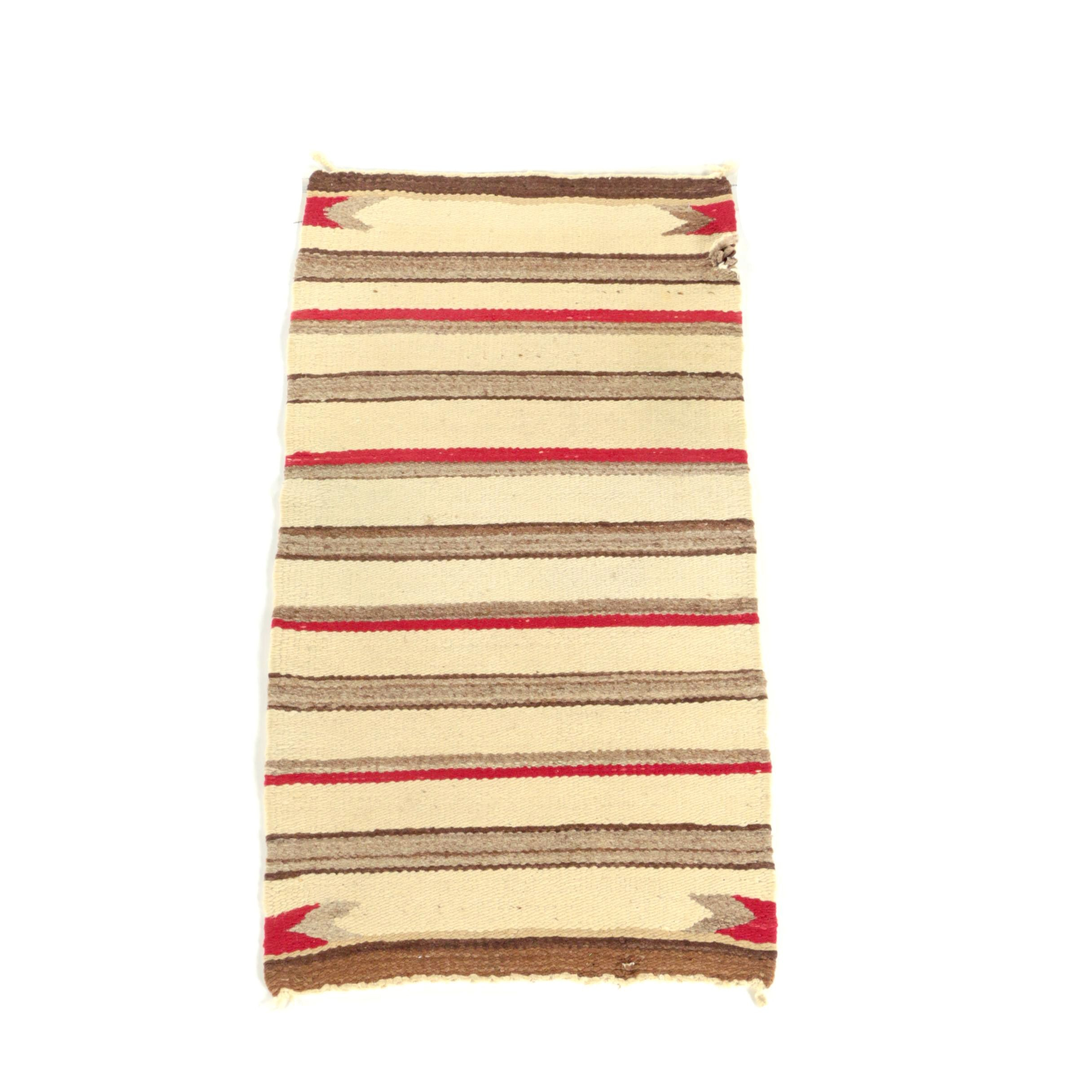Semi-Antique Navajo Wool Accent Rug