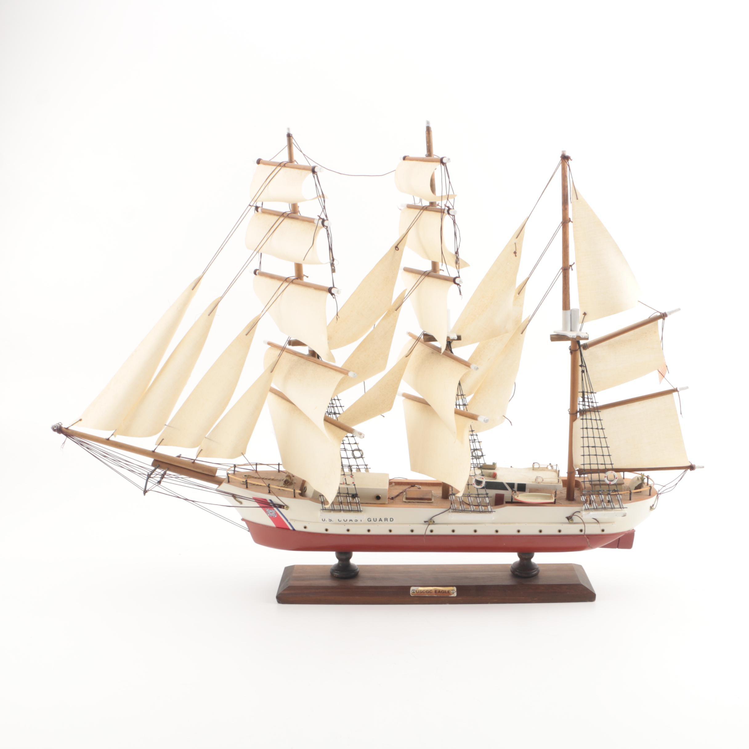 """USGCC """"Eagle"""" Wooden Ship Model"""