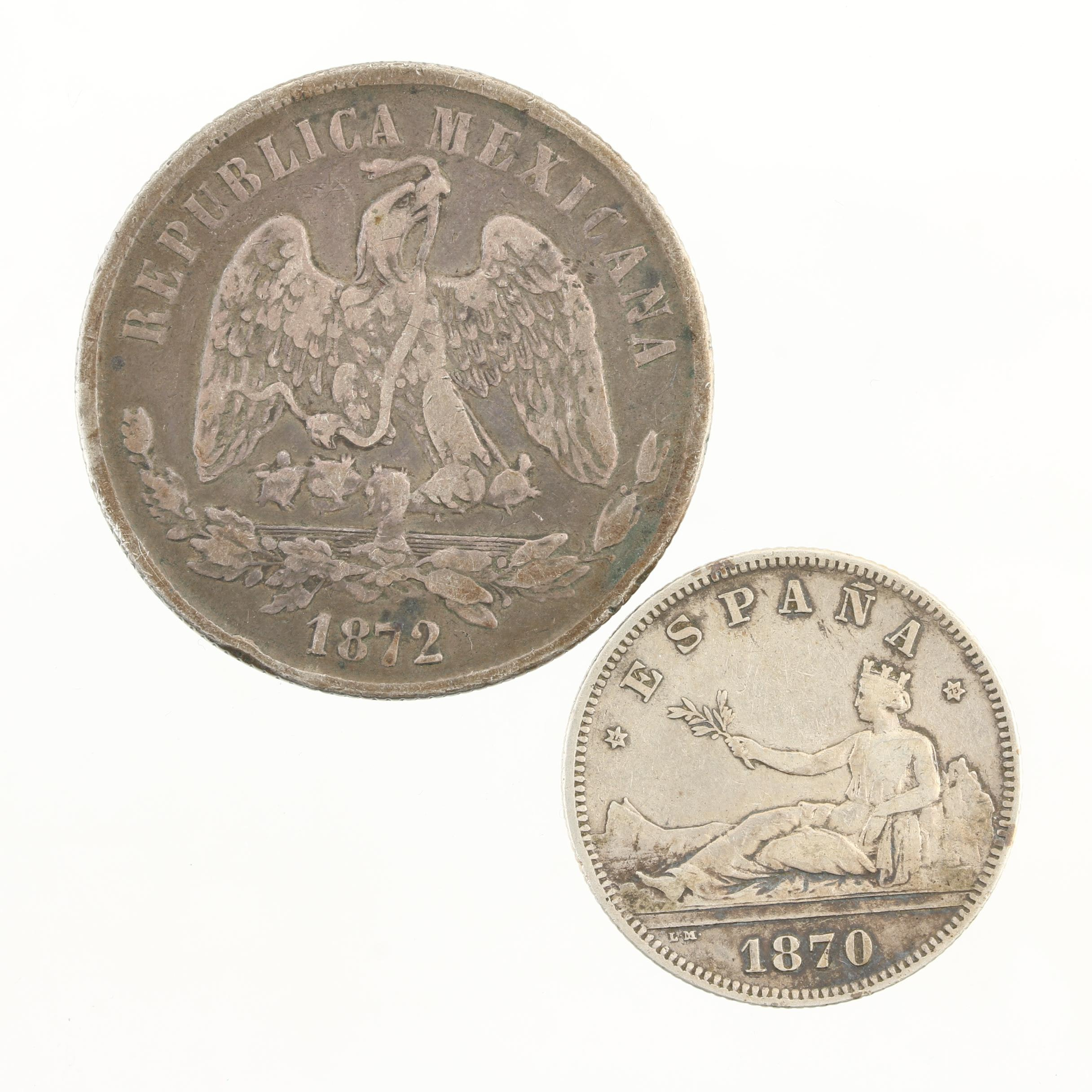 Group of Two Antique Foreign Silver Coins