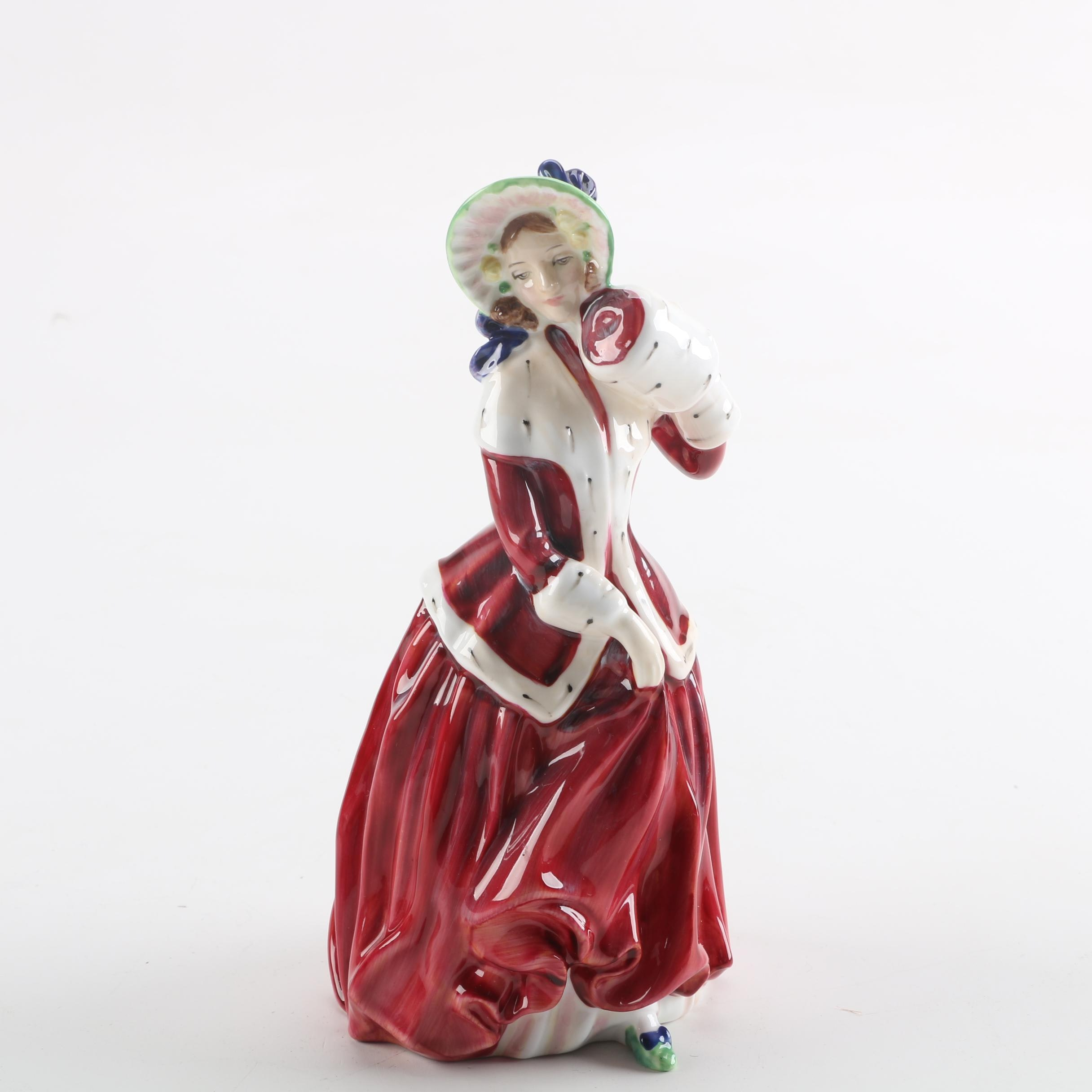 "Royal Doulton ""Christmas Morn"" Porcelain Figurine"