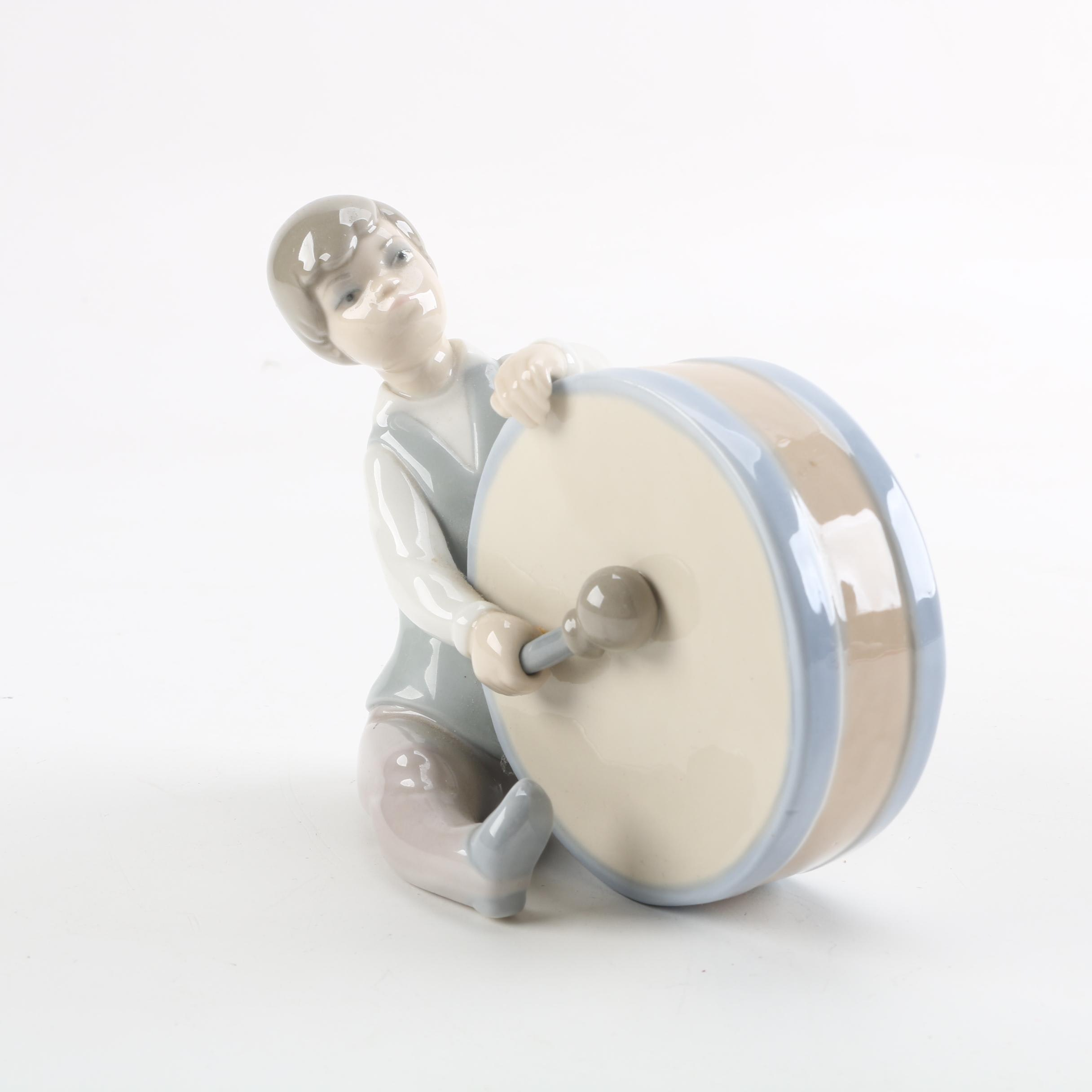 "Lladró ""Boy With Drum"" Porcelain Figurine"