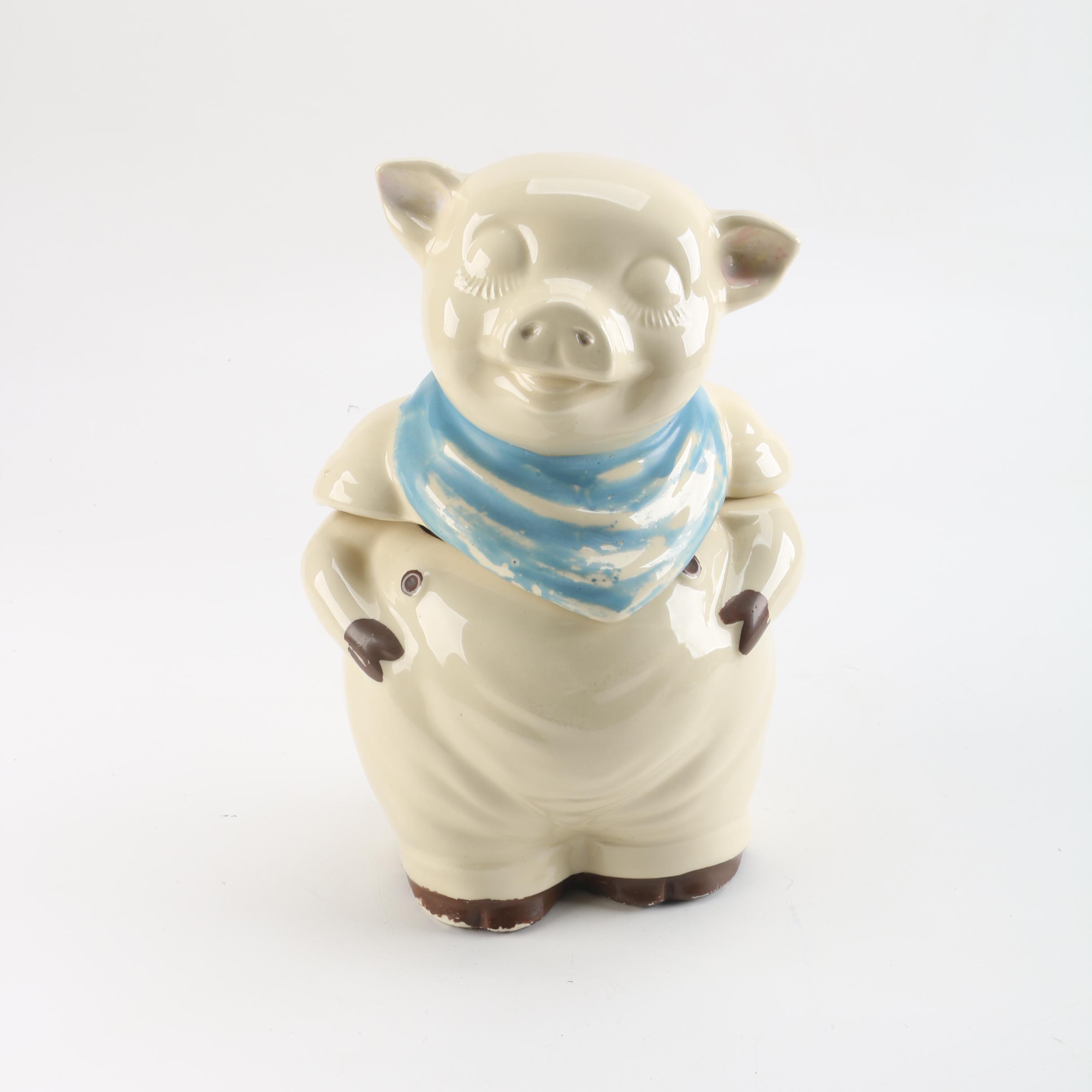 Vintage Shawnee Ceramic Pig Cookie Jar