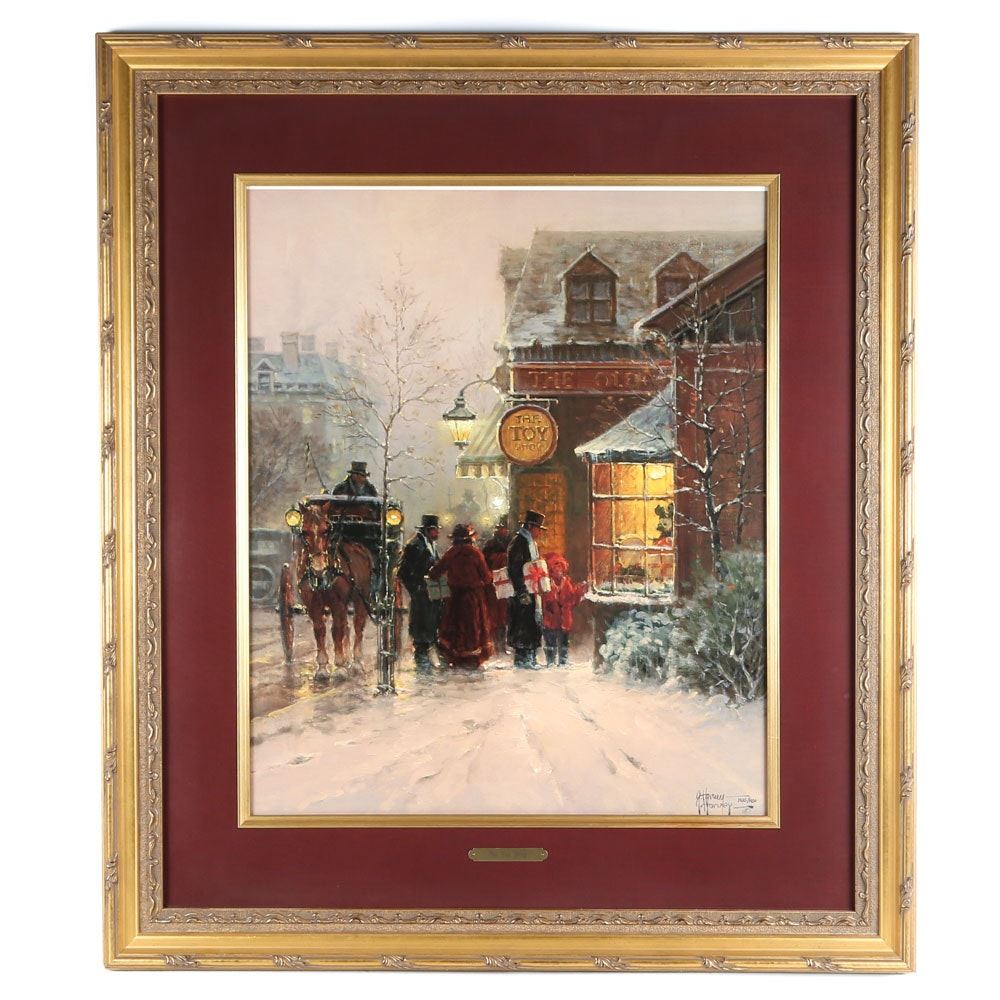 "After G. Harvey Limited Edition Offset Lithograph ""The Toy Shop"""